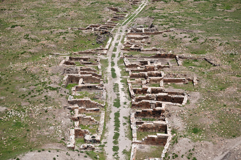 Remains at a Silk road fort, near Kars Turkey.