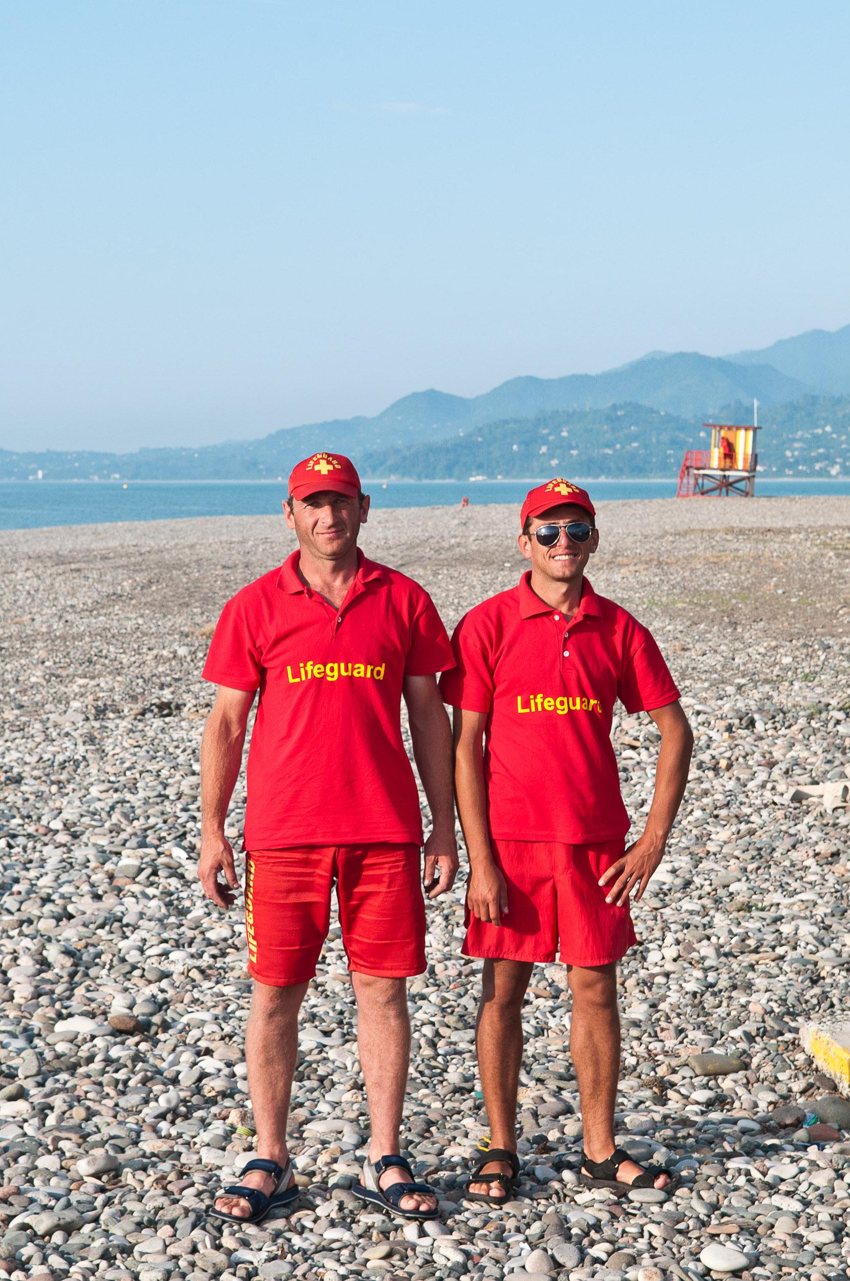 Lifeguard's on the beach at Batumi, Georgia.