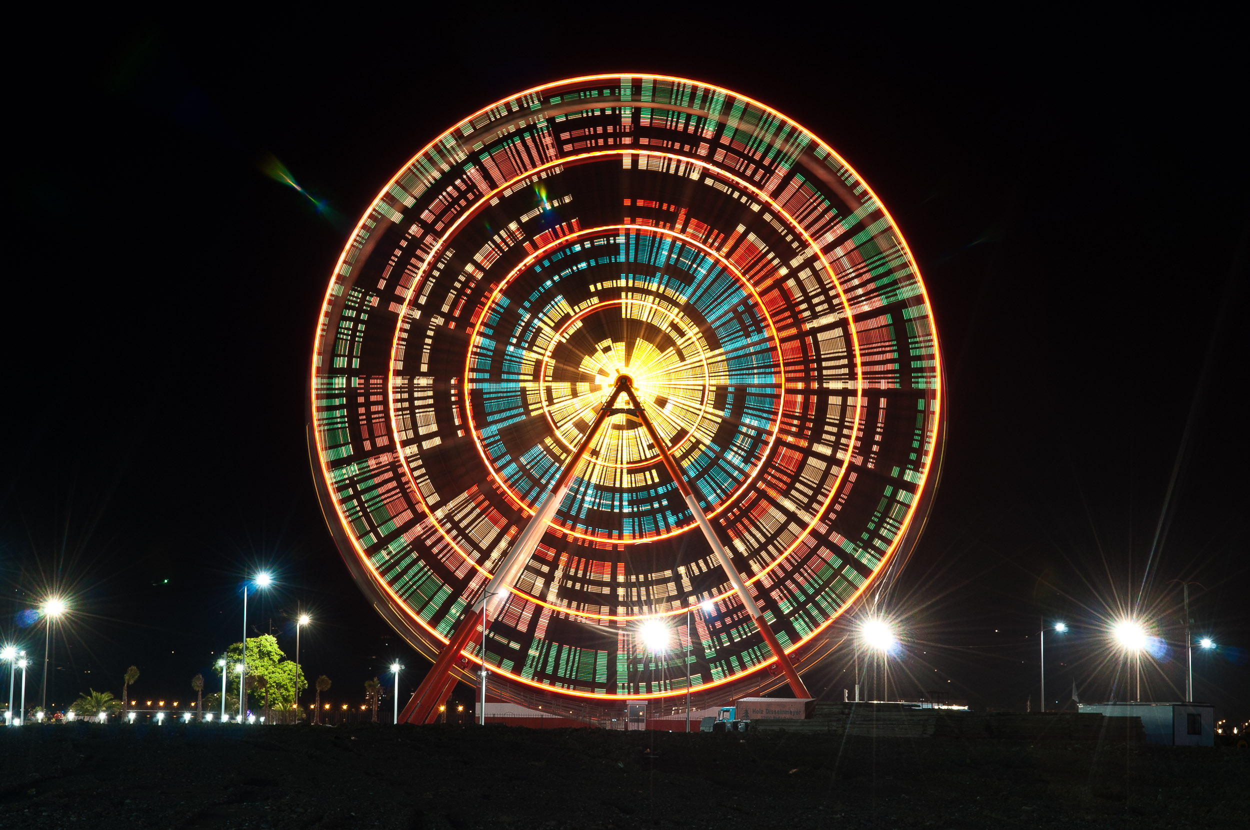 Ferris wheel time lapse, Batumi, Georgia.