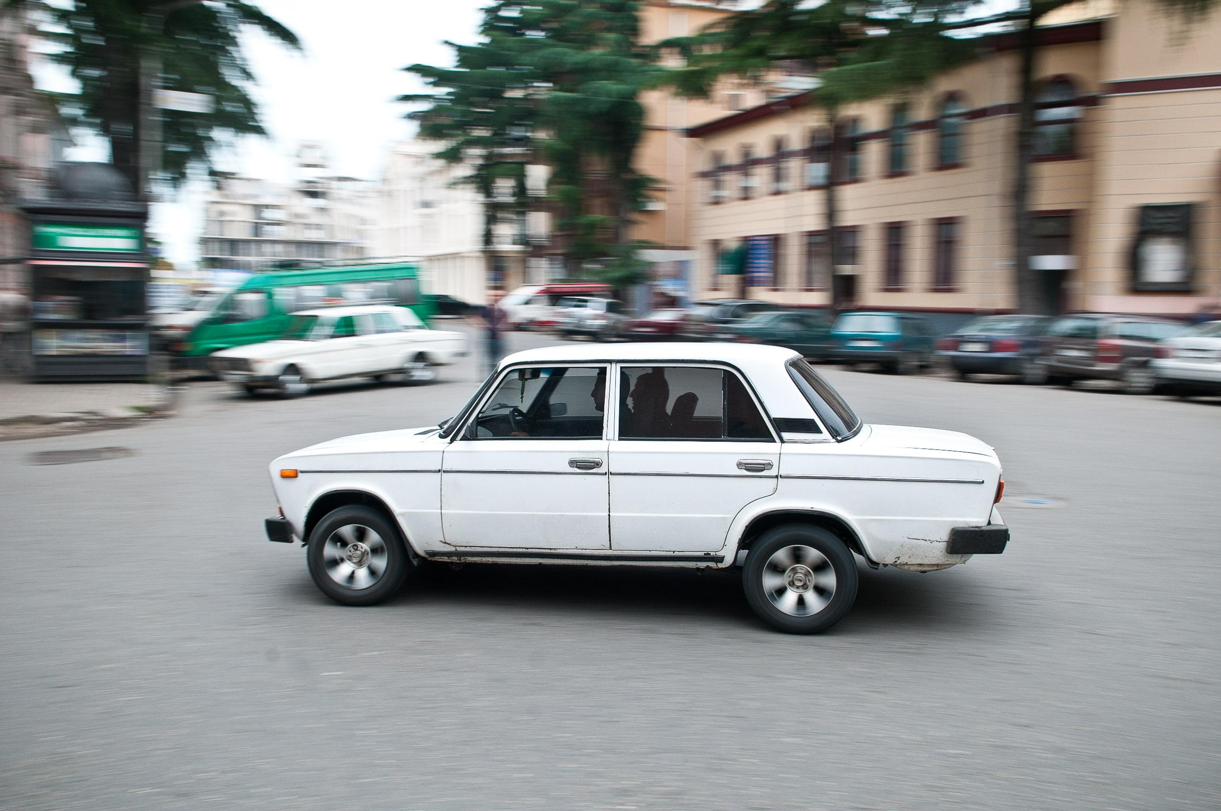 Lada vehicle, Batumi, Georgia.