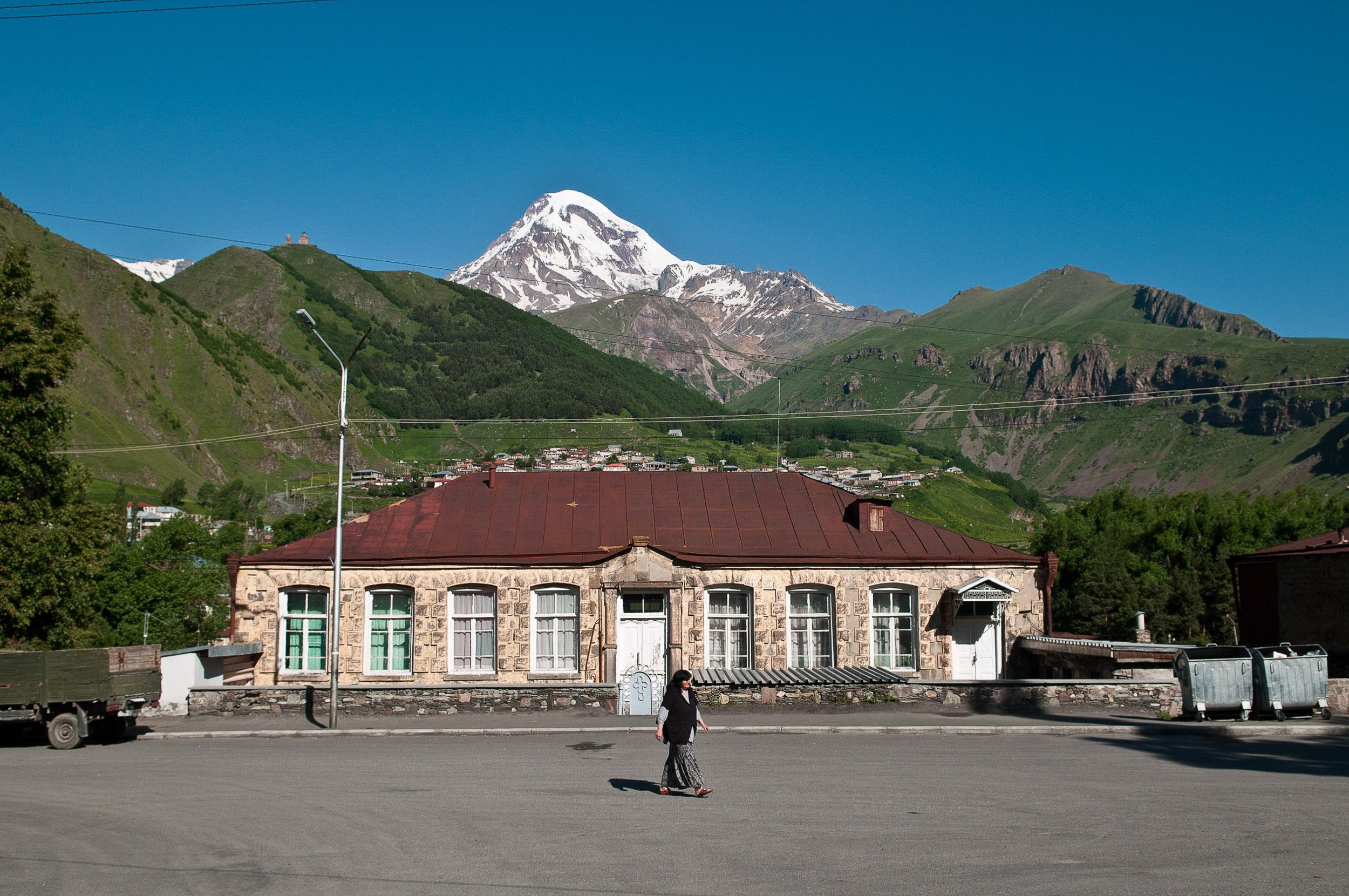 Kazbegi village, Georgia.
