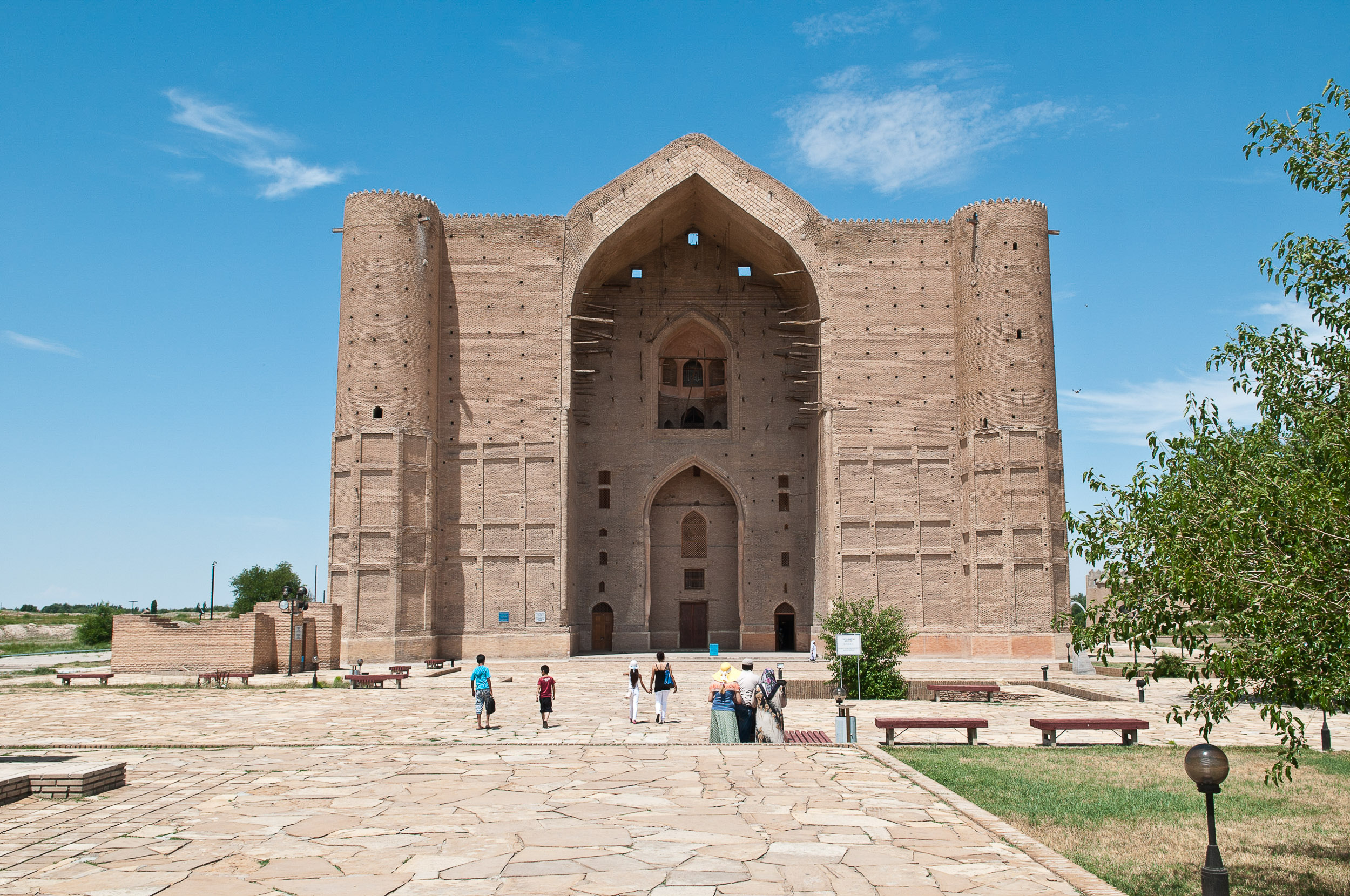 Famous mosque, Turkistan, Syr-Darya Valley, Kazakhstan.