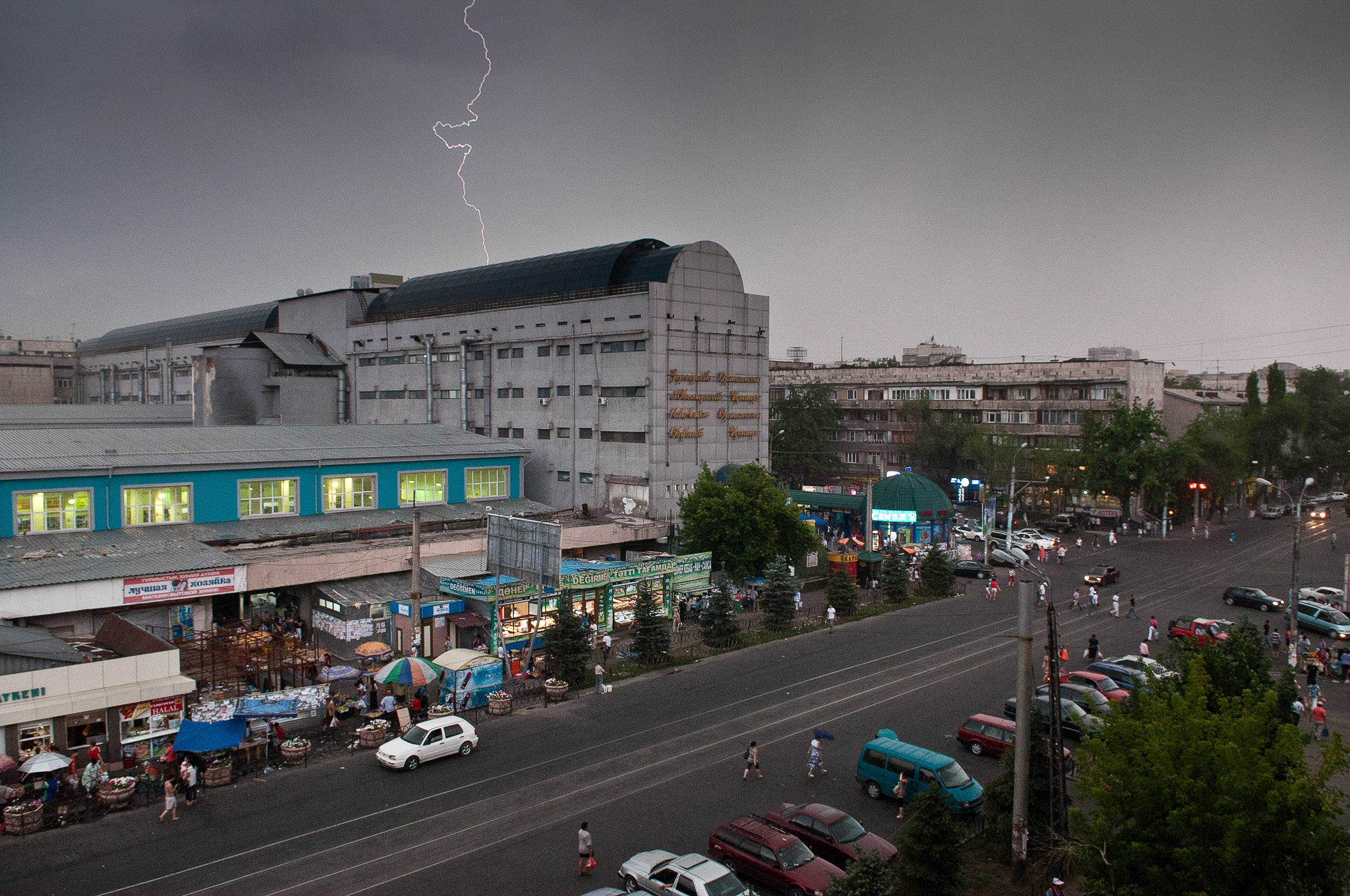 Lightning over Almaty, Kazakhstan.