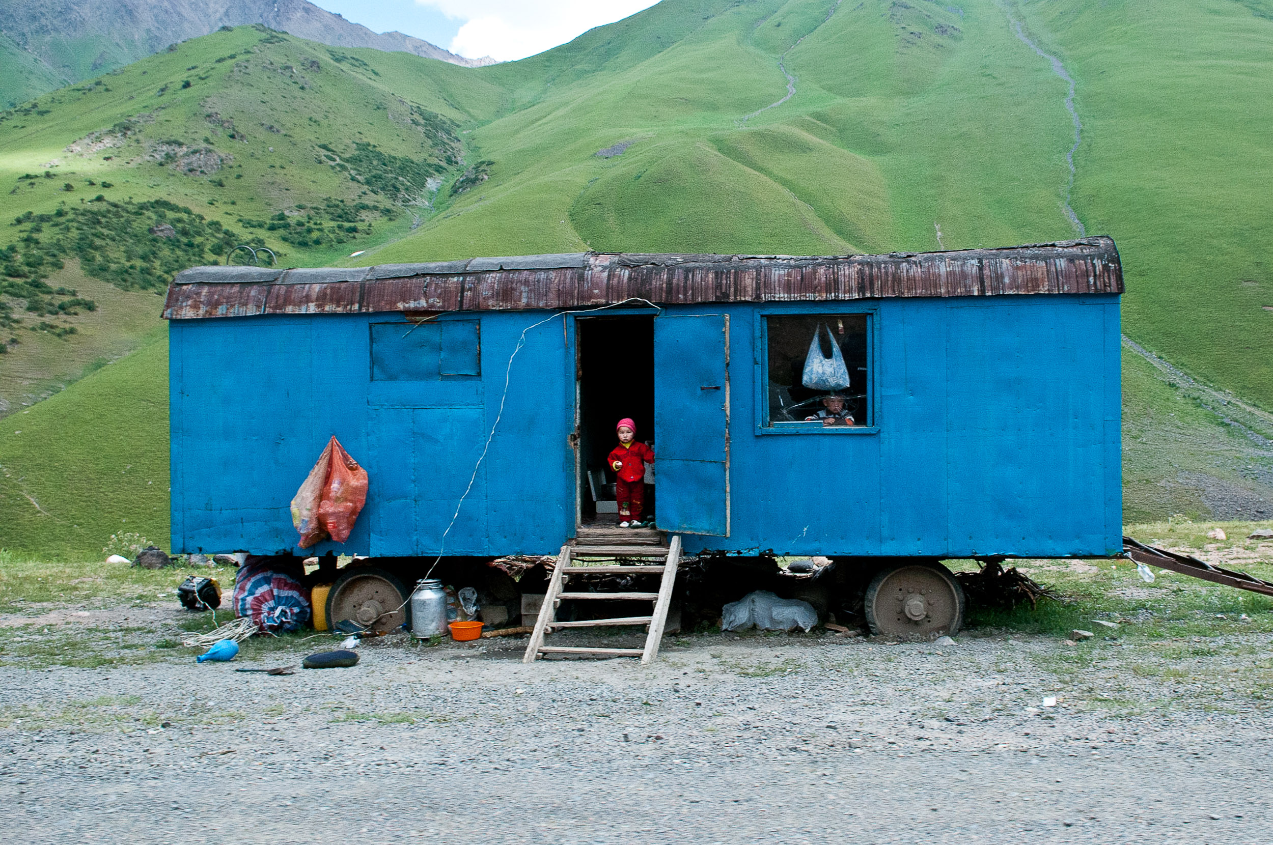 Child and home, Kyrgyzstan.
