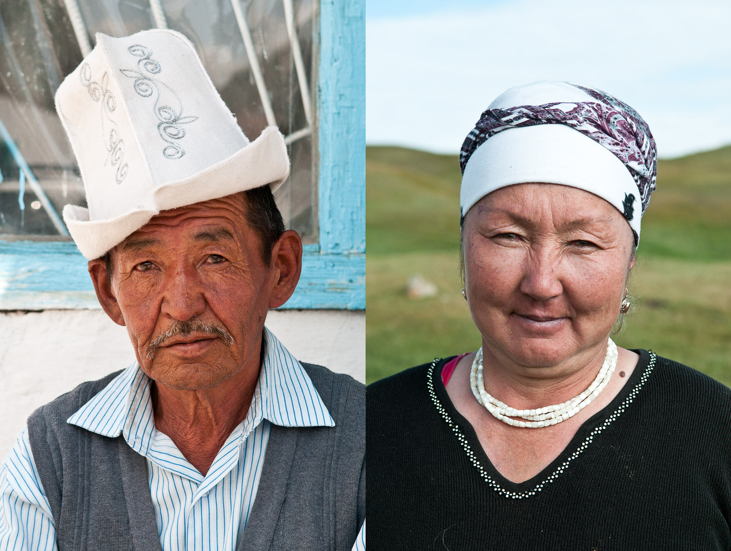 Portrait of a woman, Kyrgyzstan.