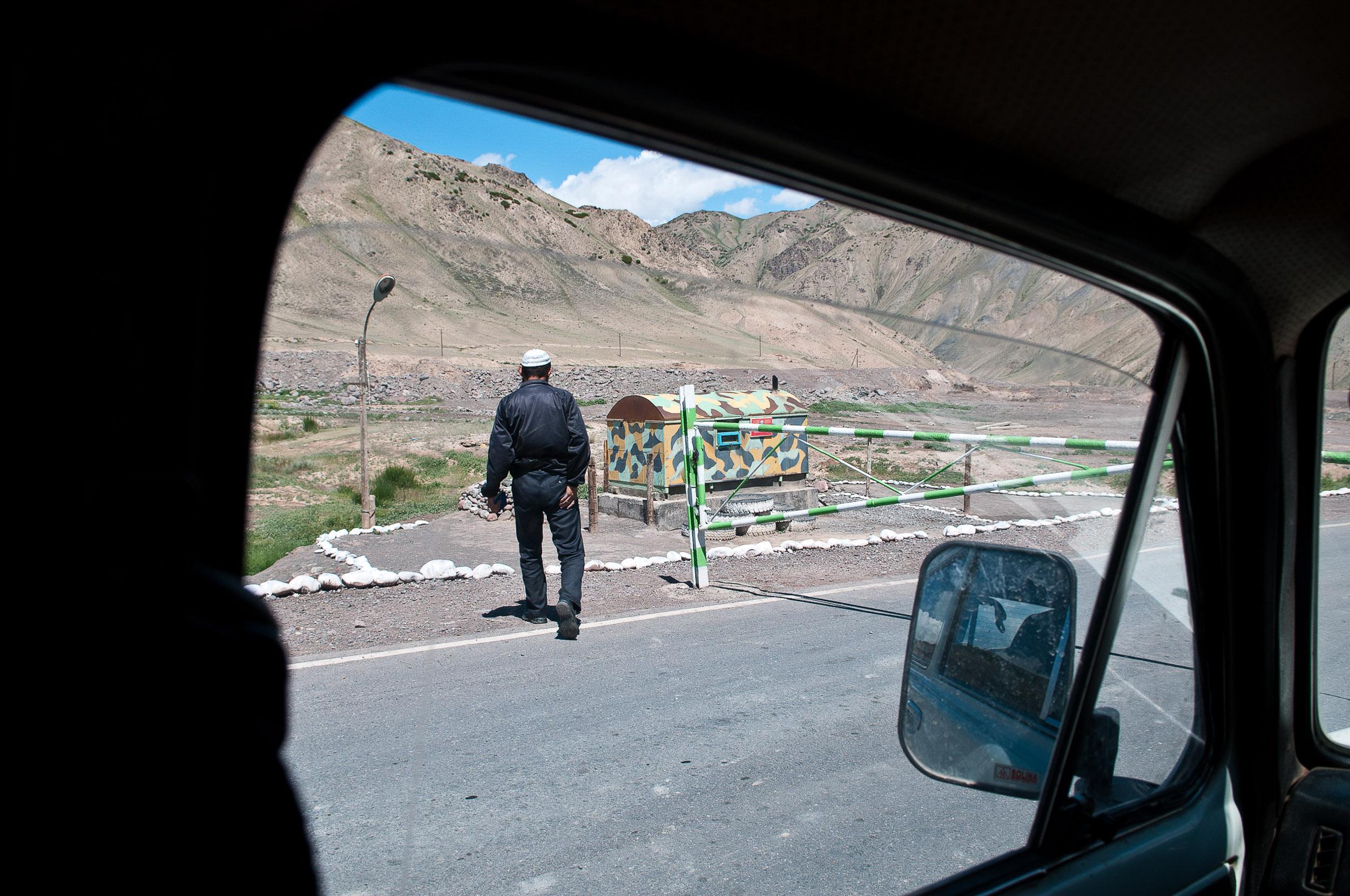 Border post near the Tian Shan mountains, Kyrgyzstan.