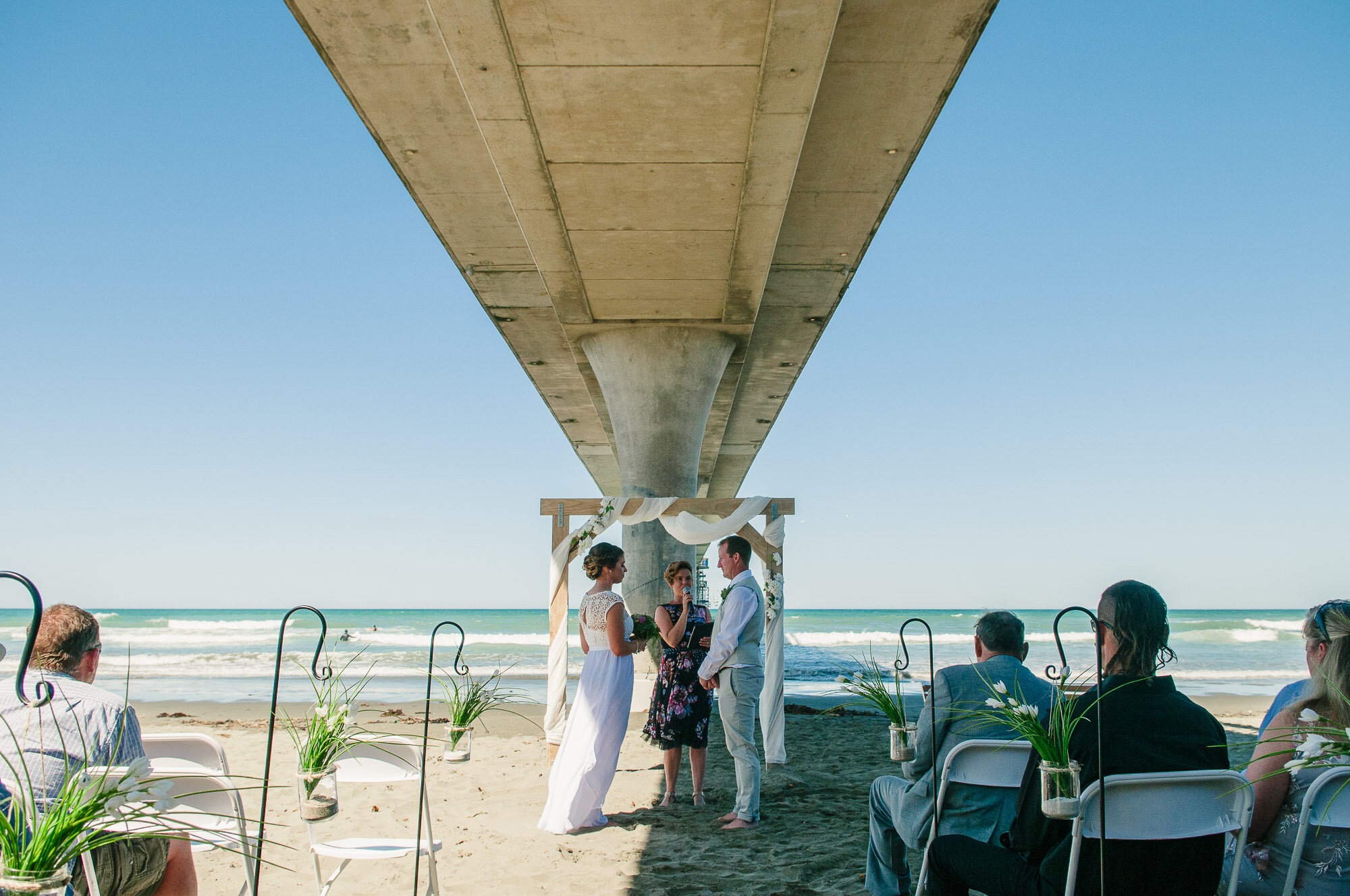 New Brighton beach wedding with Rosie and Malcolm.