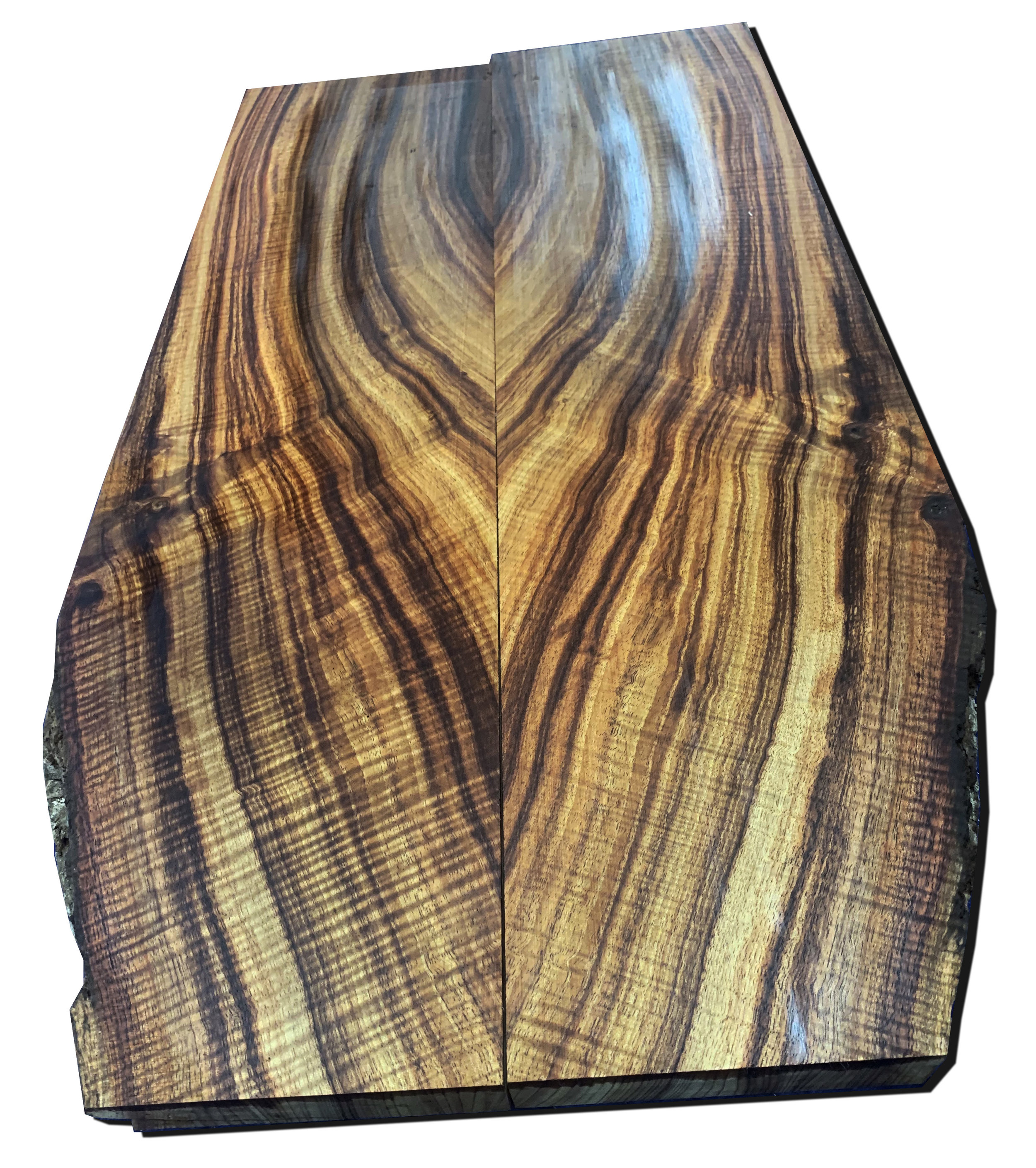 Curly Hawaiian Koa Book-Matched Billet