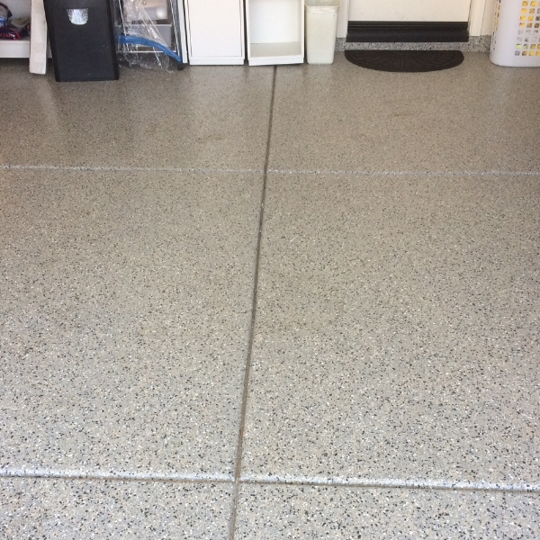 Epoxy on a garage floor is bright, clean, and beautiful.