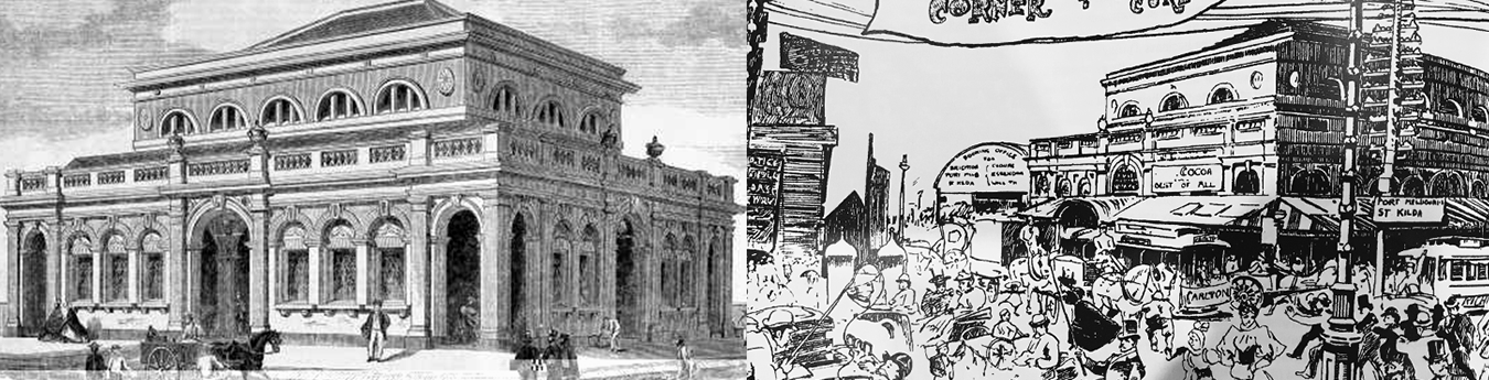 Left: The New Fish Market, wood engraving by Walter Hart, The Australian News, March 1865. Right: View to the Fish Market from the steps of St Paul's Cathedral, Weekly Times, 1895.