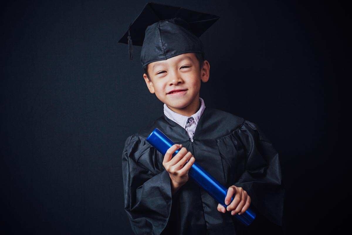 Pre-School Portraiture - Class photo & graduation portrait.