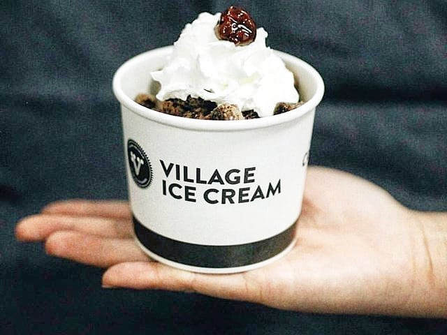 VILLAGE ICE CREAM BRITTANIA // Village was one of our favourite places to grab a tasty, cool treat while we were completing our project in Brittania. • • • • • #stonebridgecrafted #stonebridgecraftedhomes #yychomes #customhomes #brittania #village #icecream #villageicecream #treat #calgaryalberta