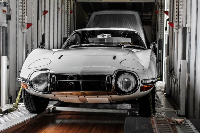 A Man loading this 2000gt onto a truck in New York was nice enough to uncover the car and let me in the trailer to get a couple pictures. I still don't know why anyone trusts me around cars like this.