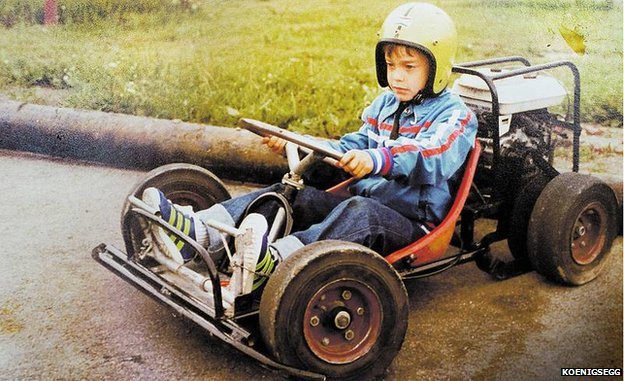 A young Christian and his kart.