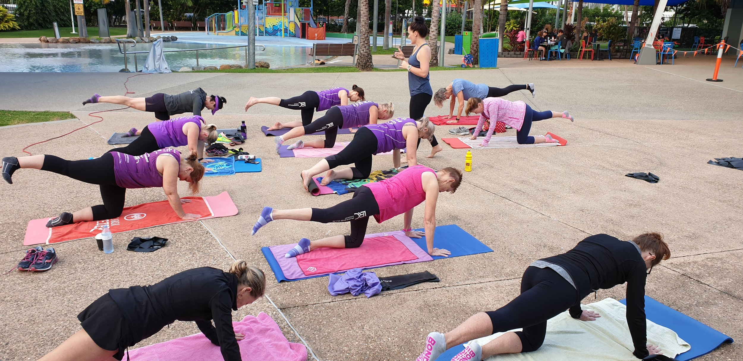 Pilates by the Bluewater Lagoon