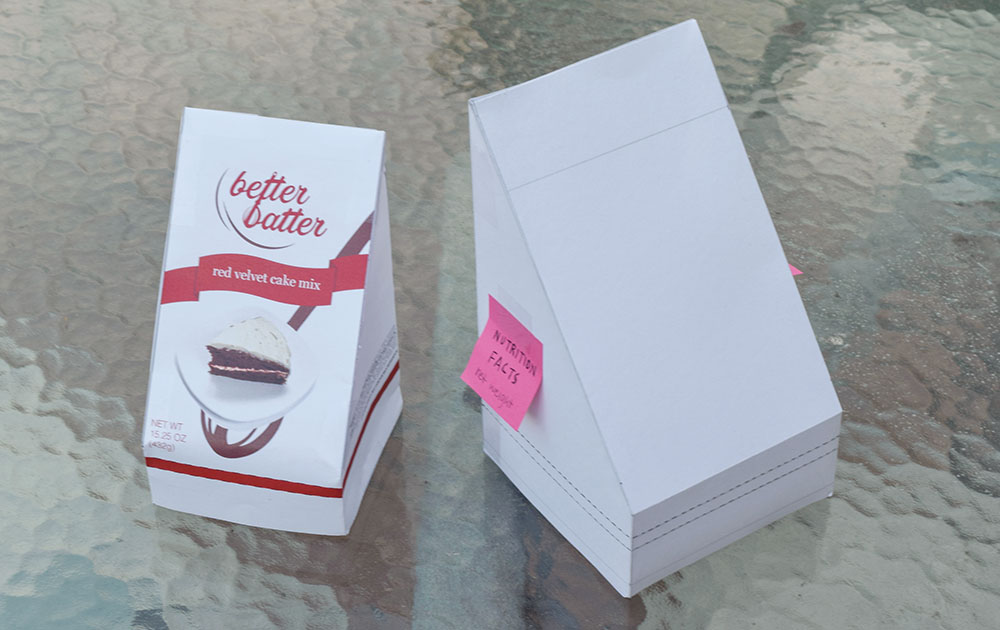 Two initial prototypes of packaging