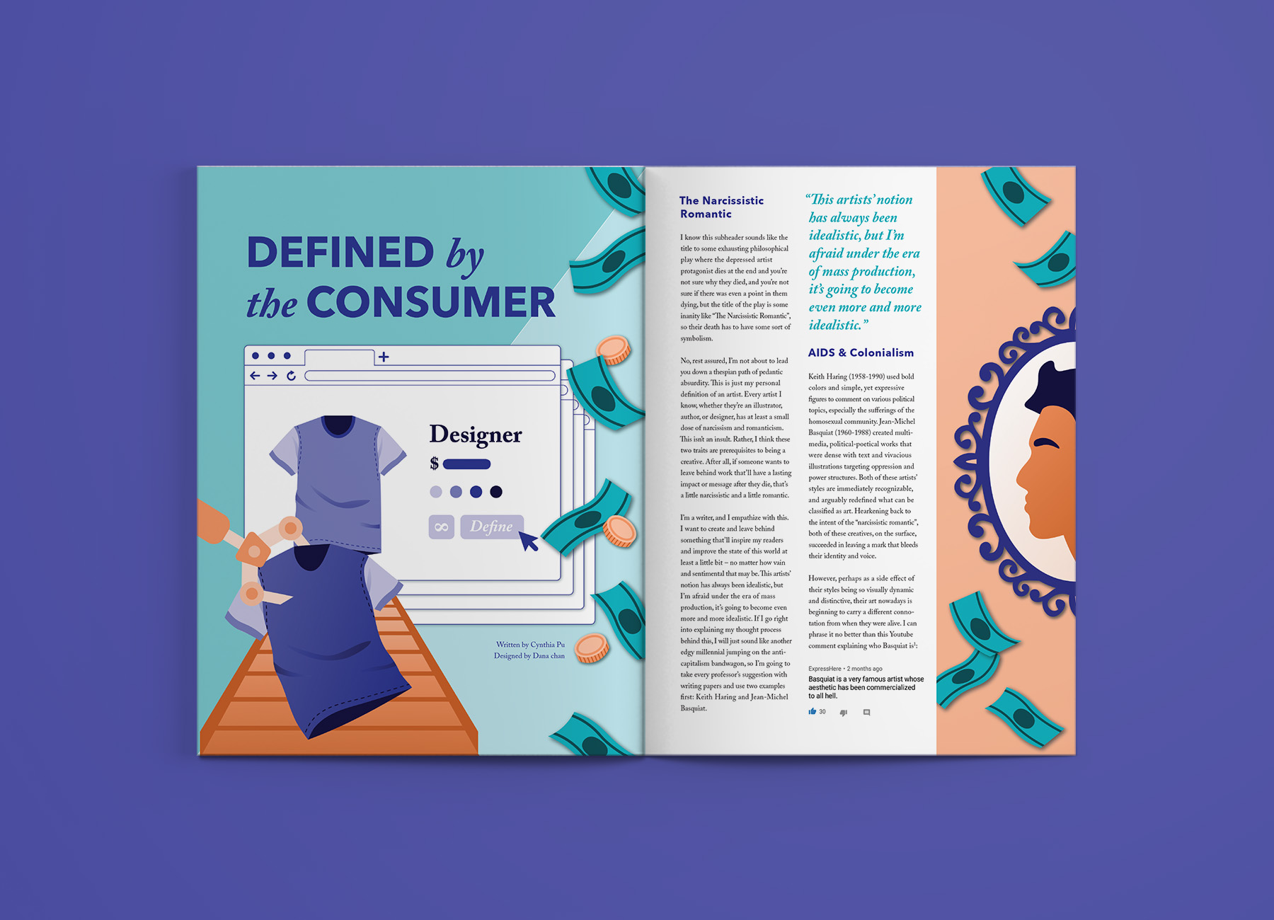 Defined by the consumer - Written by Cynthia PuDesigned by Dana Chan (me!)