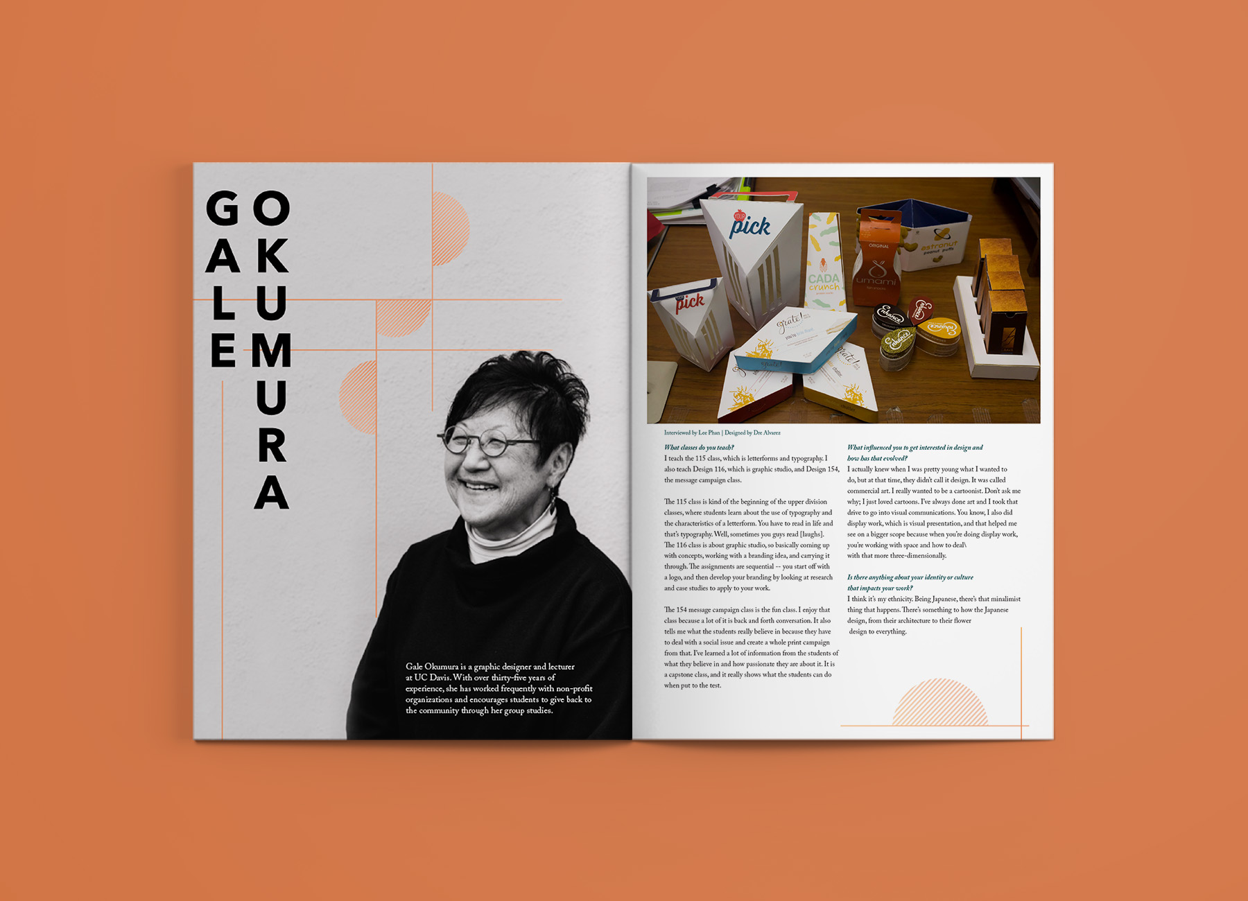 Gale okumura: faculty interview - Interviewed & Written by Lee PhanDesigned by Dre Alvarez