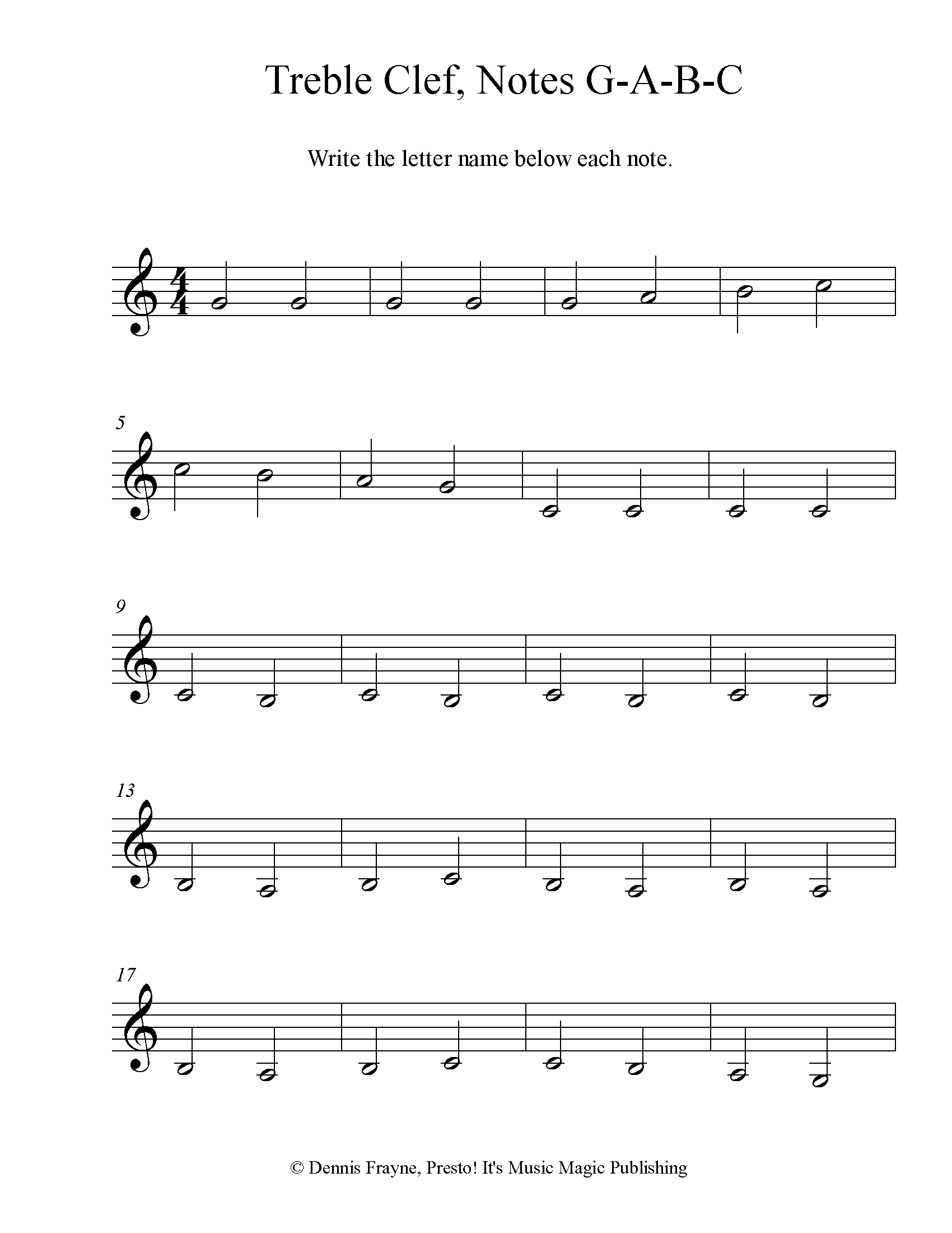 FREE! Printable Music Note Naming Worksheets — Presto! It's ...