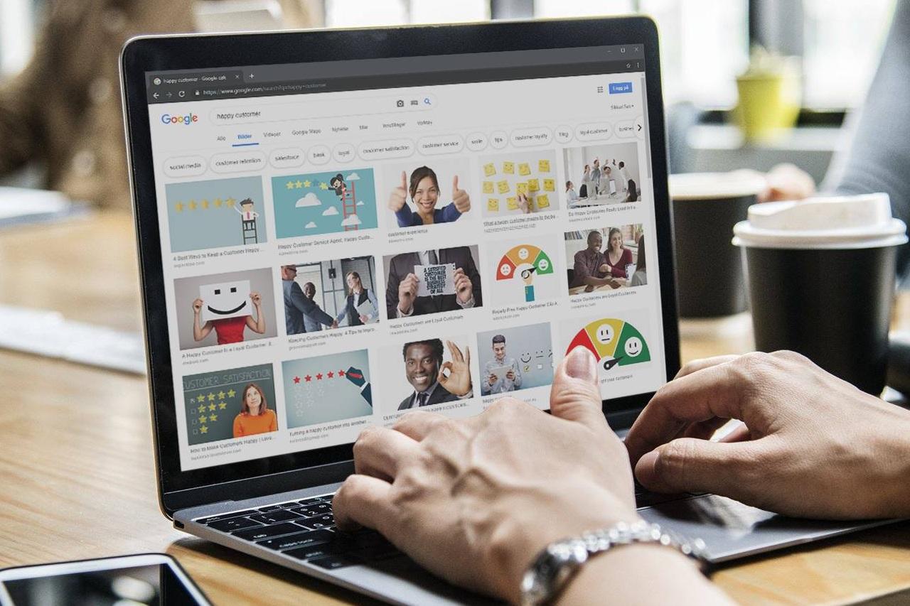 Google er et fint oppslagsverk for informasjon og inspirasjon, men ikke last ned og bruk bilder med mindre de er merket for gjenbruk uten kreditering.