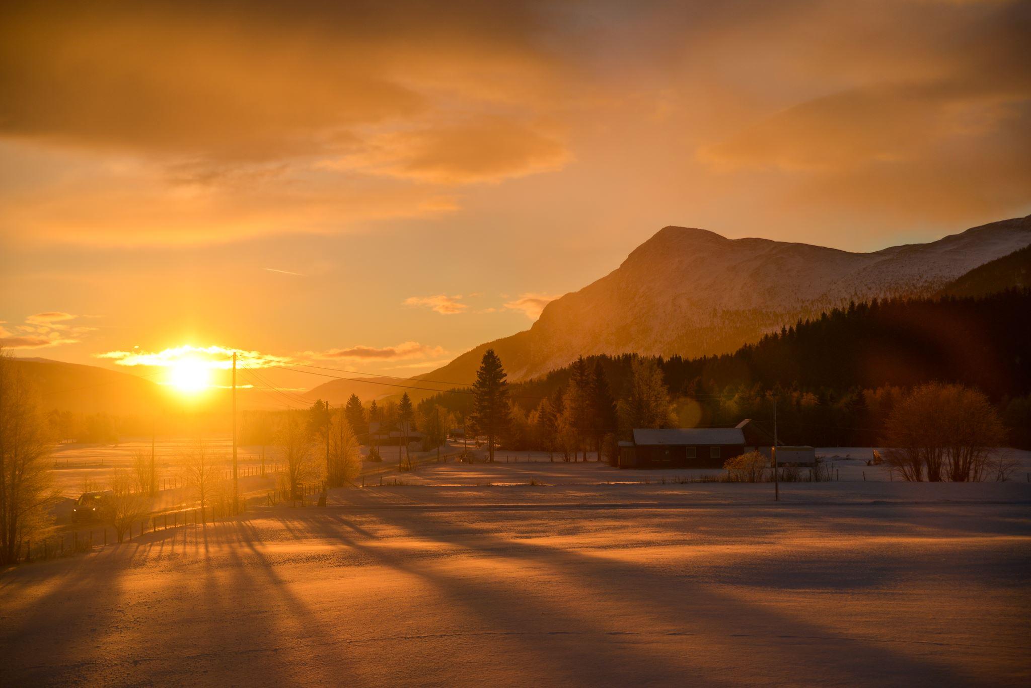 Liv Marens utsikt fra stuevinduet en vakker vintermorgen i 2019.