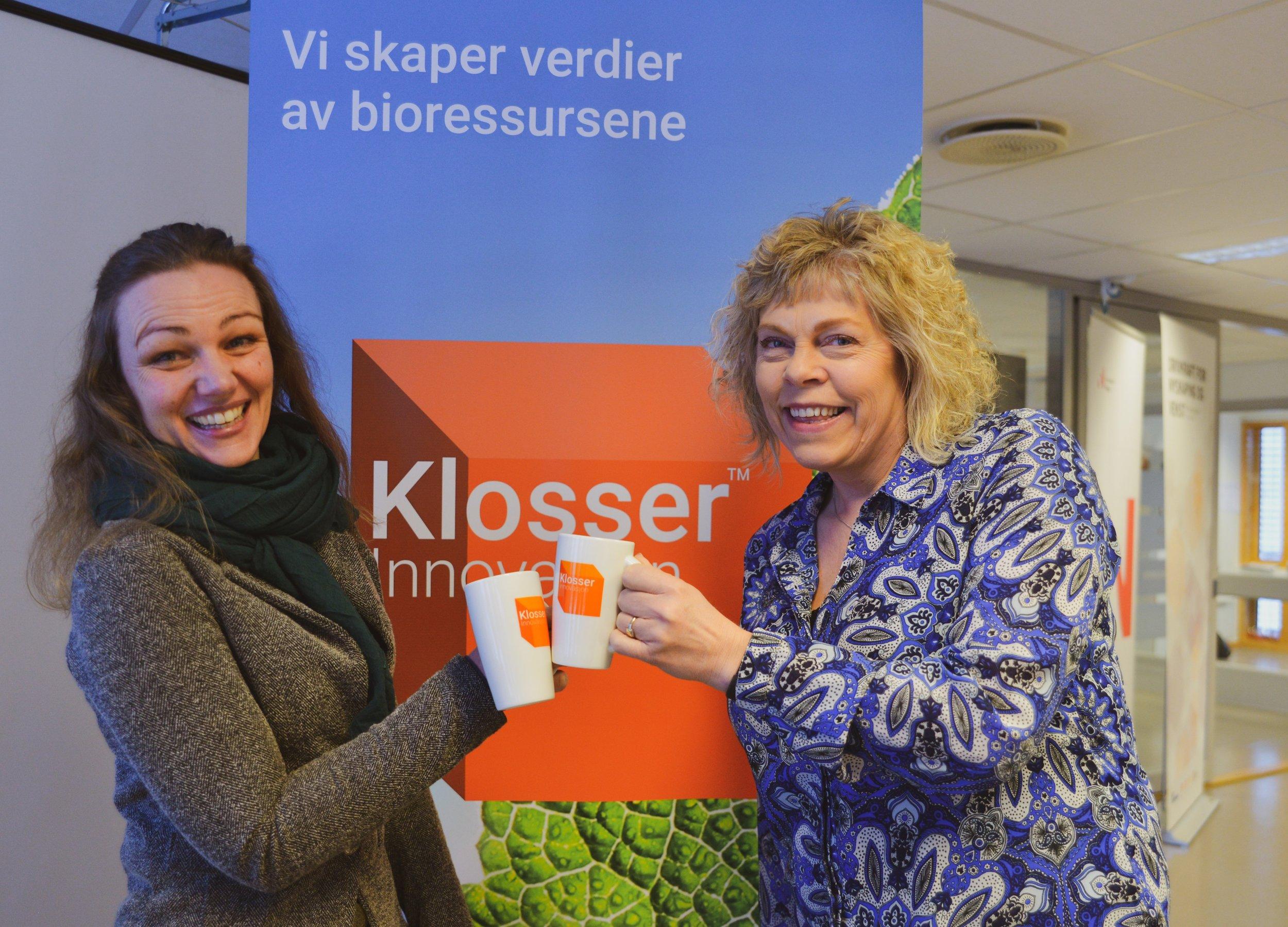 Cathrine Fodstad, forretningsutviklder (t.v) og Mali Hagen Røe, daglig leder (t.h) i Klosser Innovasjon. Foto: Liv Maren Mæhre Vold