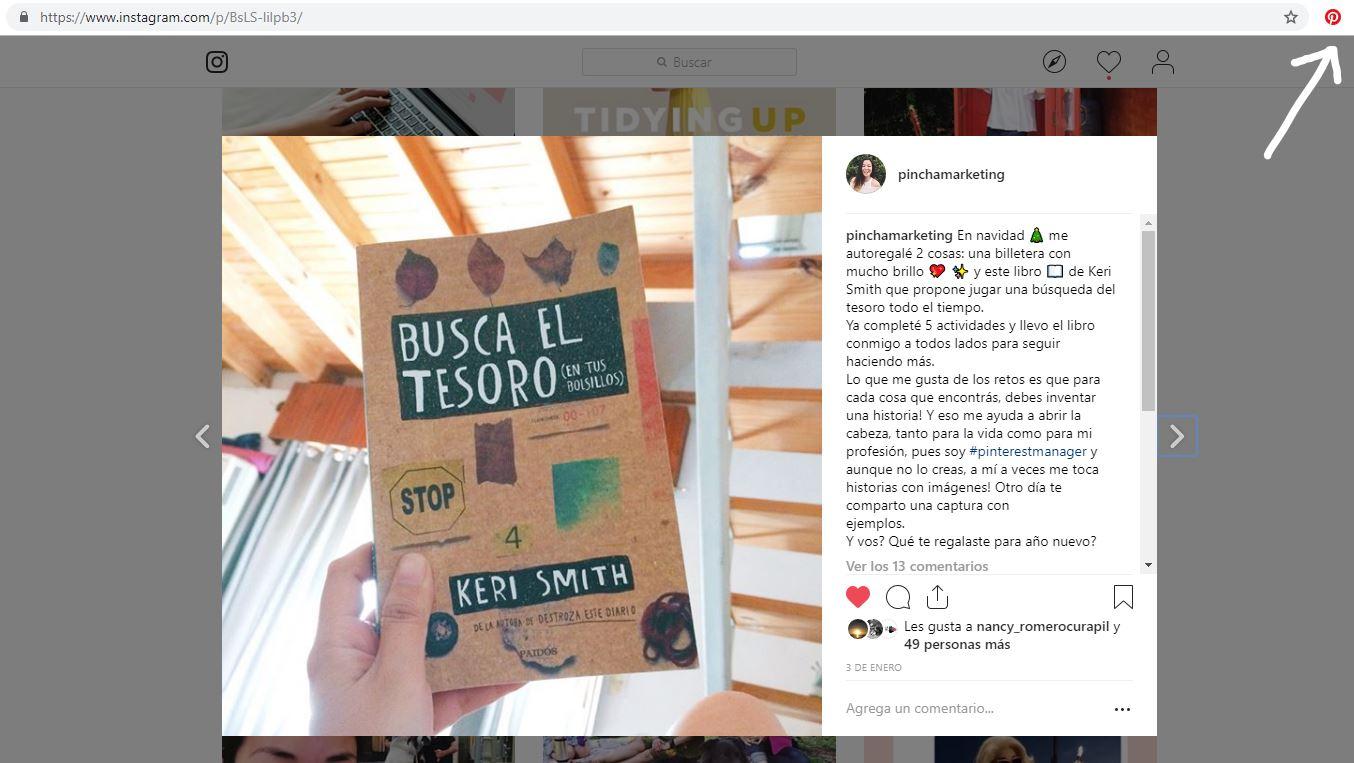 Comienza a subir tus imágenes de Instagram a Pinterest
