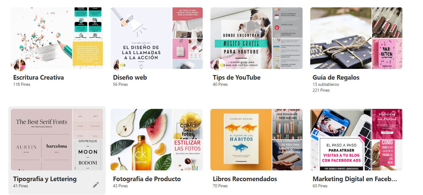 Cómo crear tableros en Pinterest