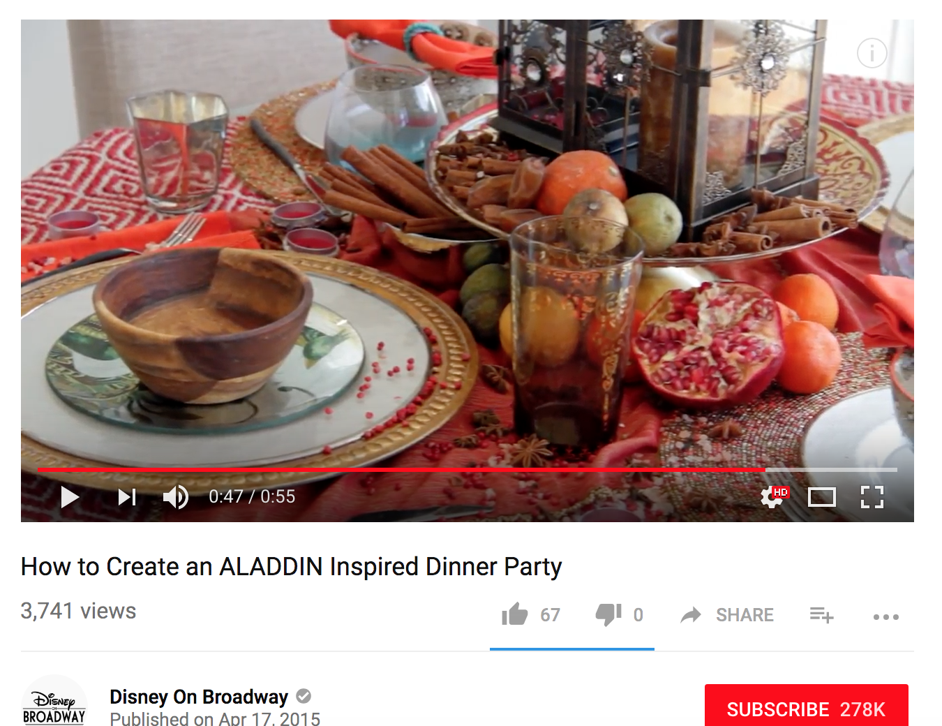 Food Styling Video Production - Disney Theatrics