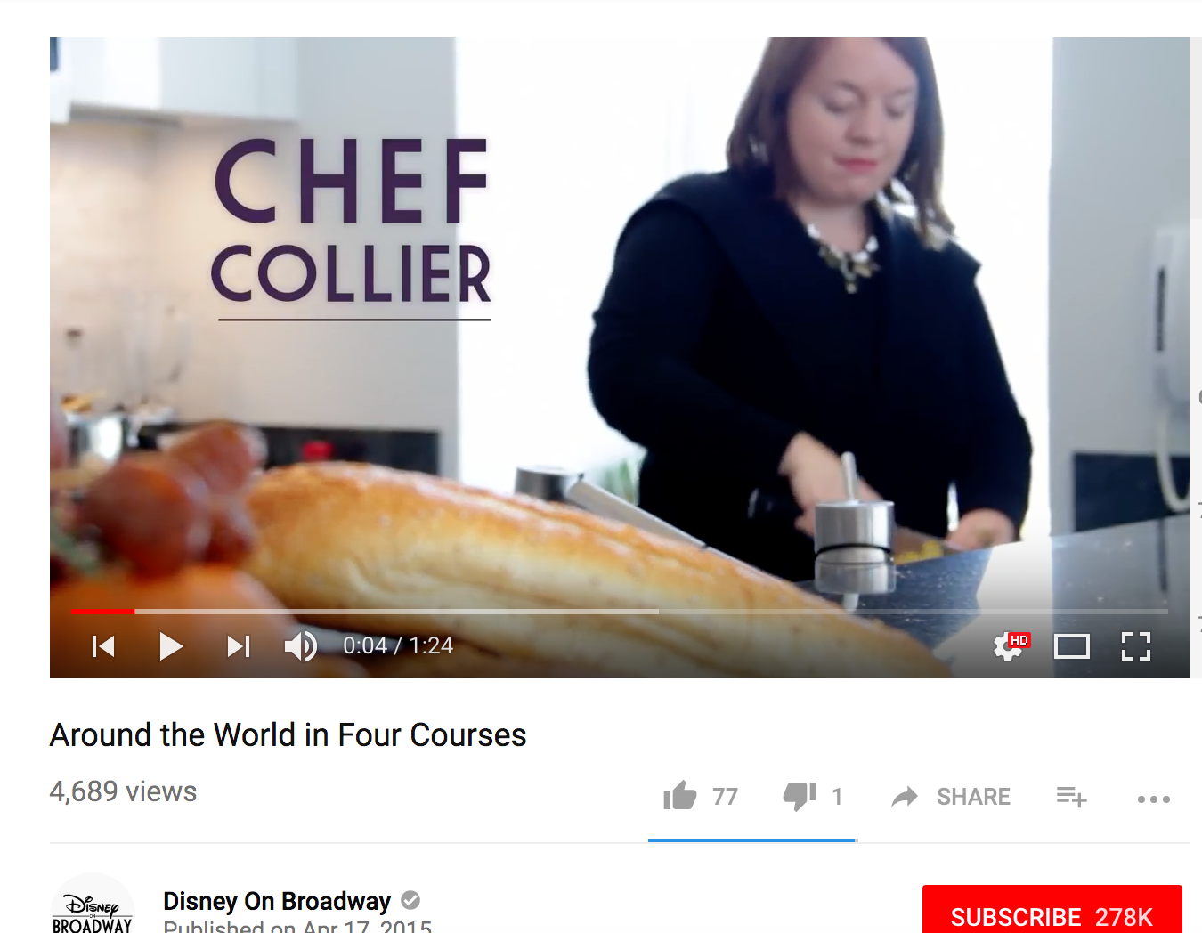 On-Camera Recipe Creation and Food Styling - Disney Theatrics