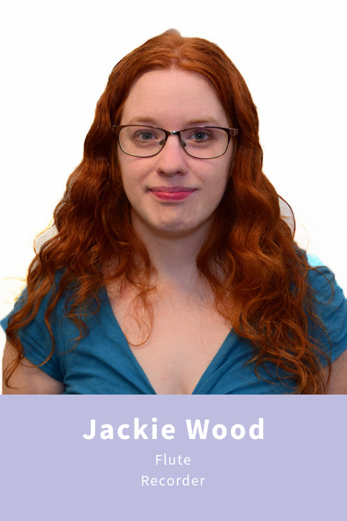 Jacqueline Wood teaches flute and recorder and is an active performer in the Cleveland area. She received her bachelors degree in Music Education from Baldwin-Wallace University in 2014 and Masters in Flute Performance from Cleveland State University in 2016. Jackie enjoys working with flute students young and old, and of all abilities and skill levels. Her philosophy of education is that all students who want to learn should have music as a part of their life, and that all students have the potential to find joy and fulfillment through music.