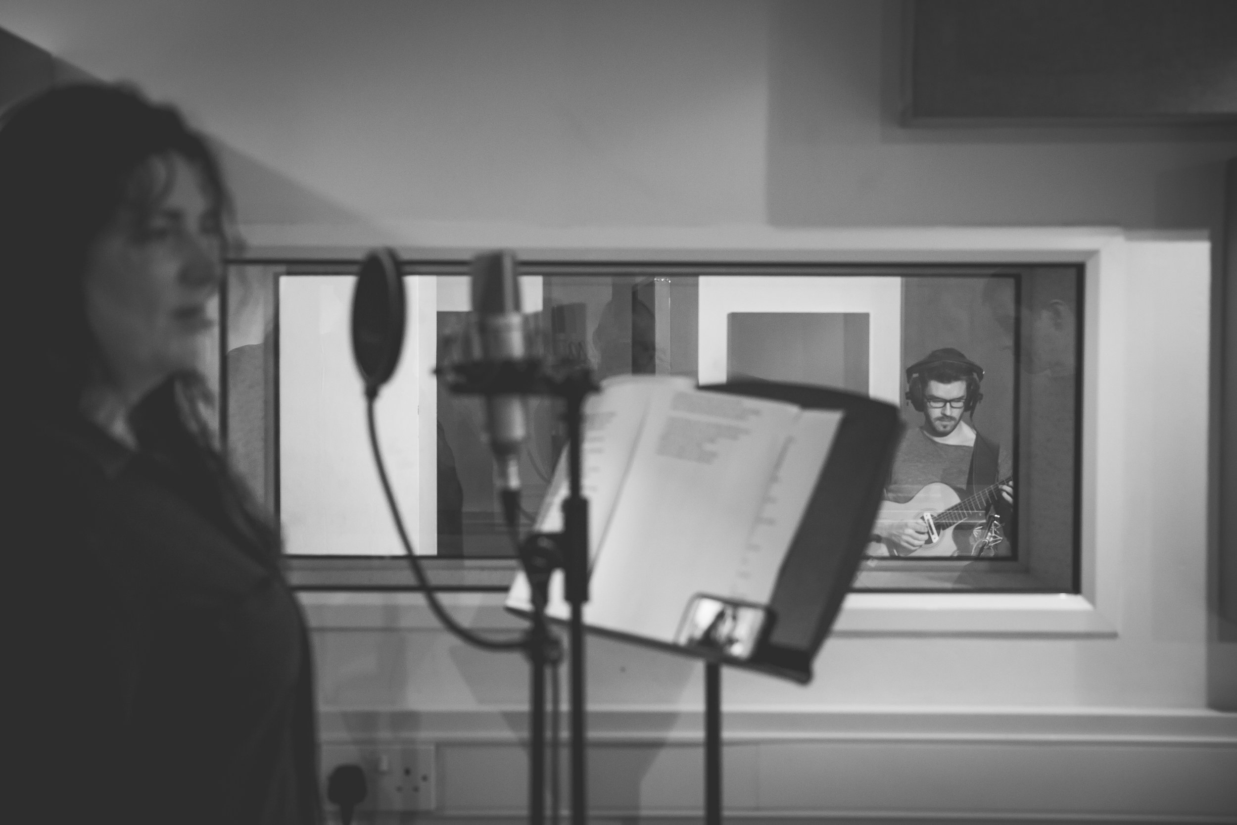 Steve Banks recording 'What We're Made Of' by Sara Colman