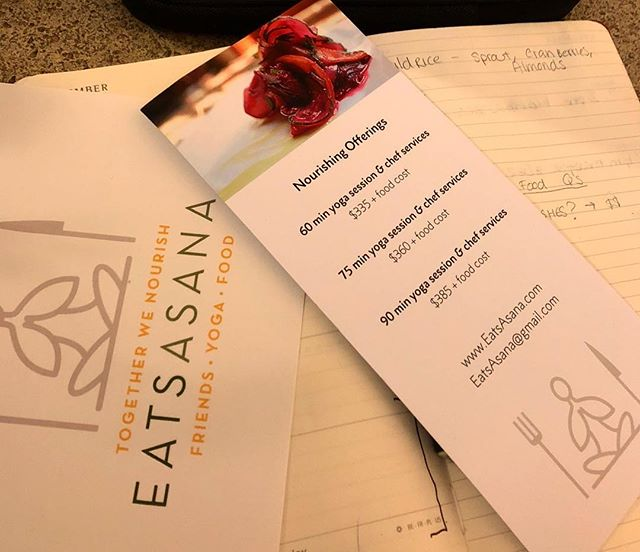Currently planning a women's retreat with a client. ✨ what's your idea for hosting an EatsAsana event? ⚡️#EatsAsana #friendsyogafood #rocfood #togetherwenourish #rocyoga
