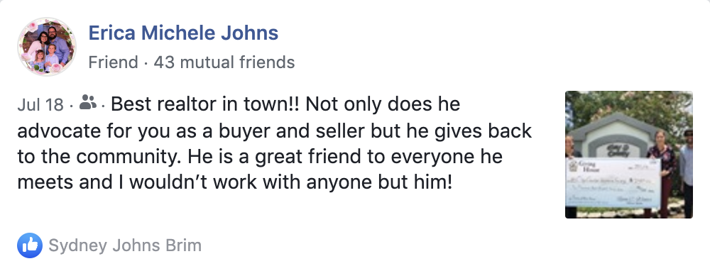 Erica Johns bought and sold a house with Ryan in 2017.