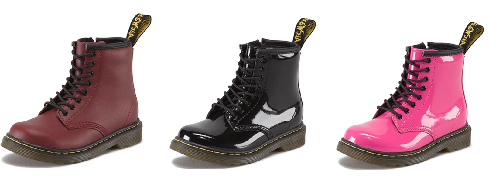 The Dr Marten Toddler 1460. Available to buy at  www.drmartens.com