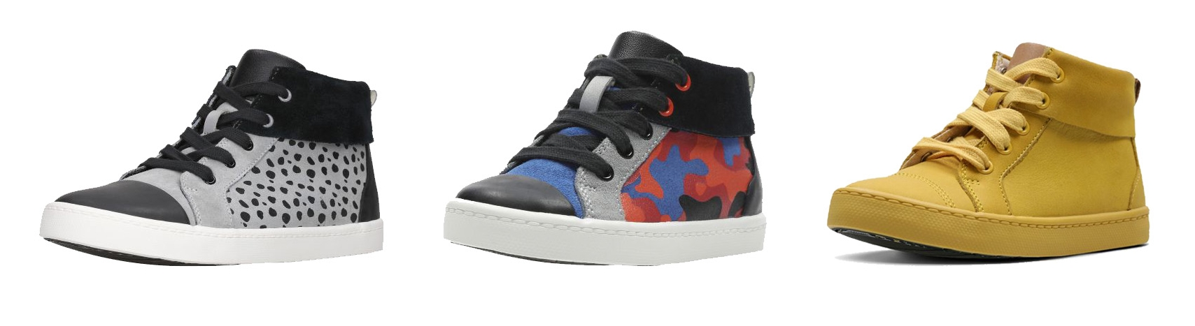 The Clarks City Vine Hi and City Vine Jungle. Available to buy at  www.clarks.co.uk