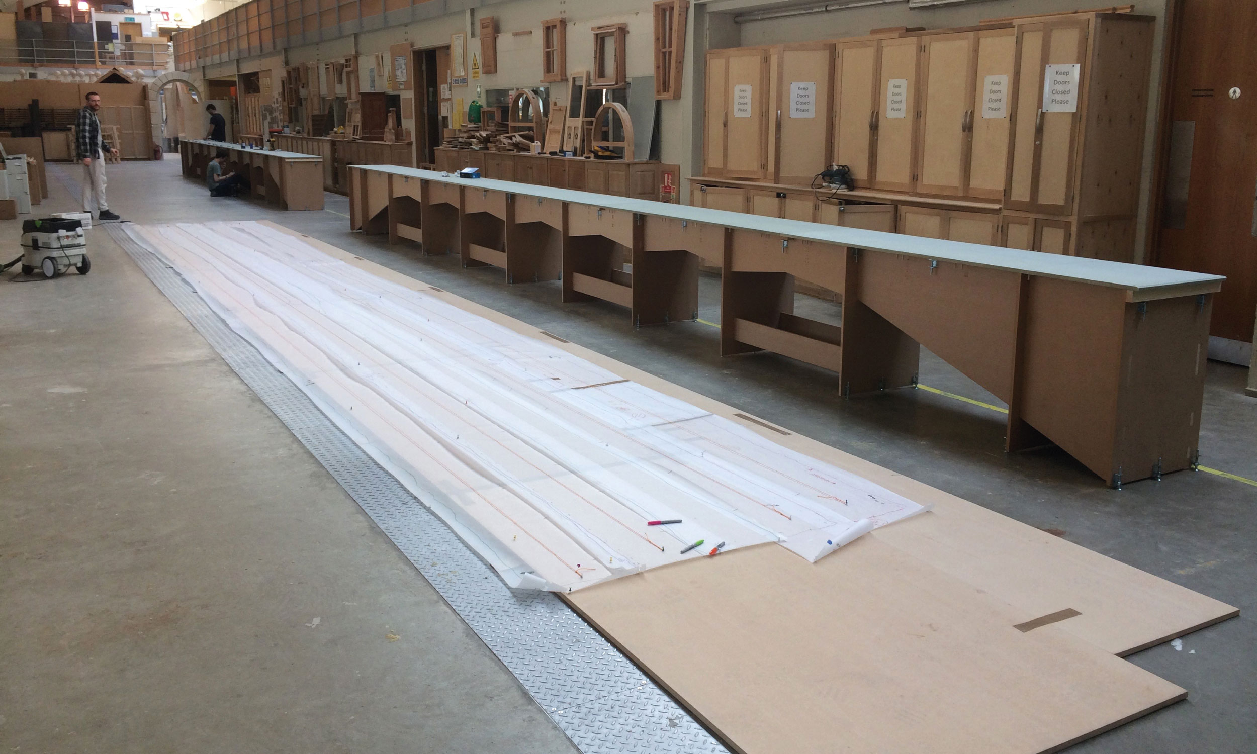 The 29 metre planer bed without the planer and scissor bed extensions