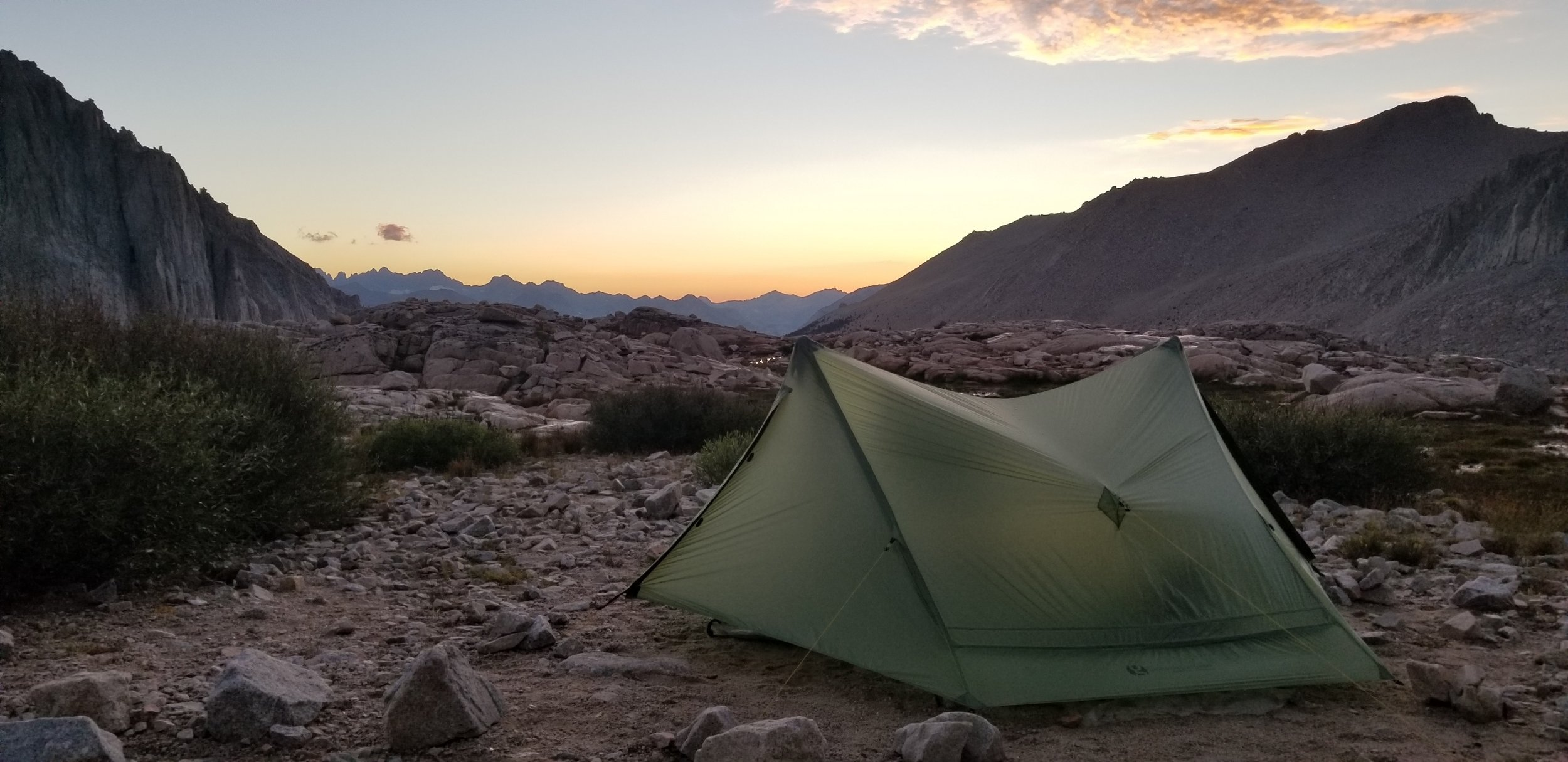 Our tent at the base of Whitney.