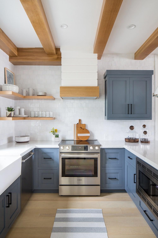 Design Ideas Open Kitchen Shelving Grain Galley Interior