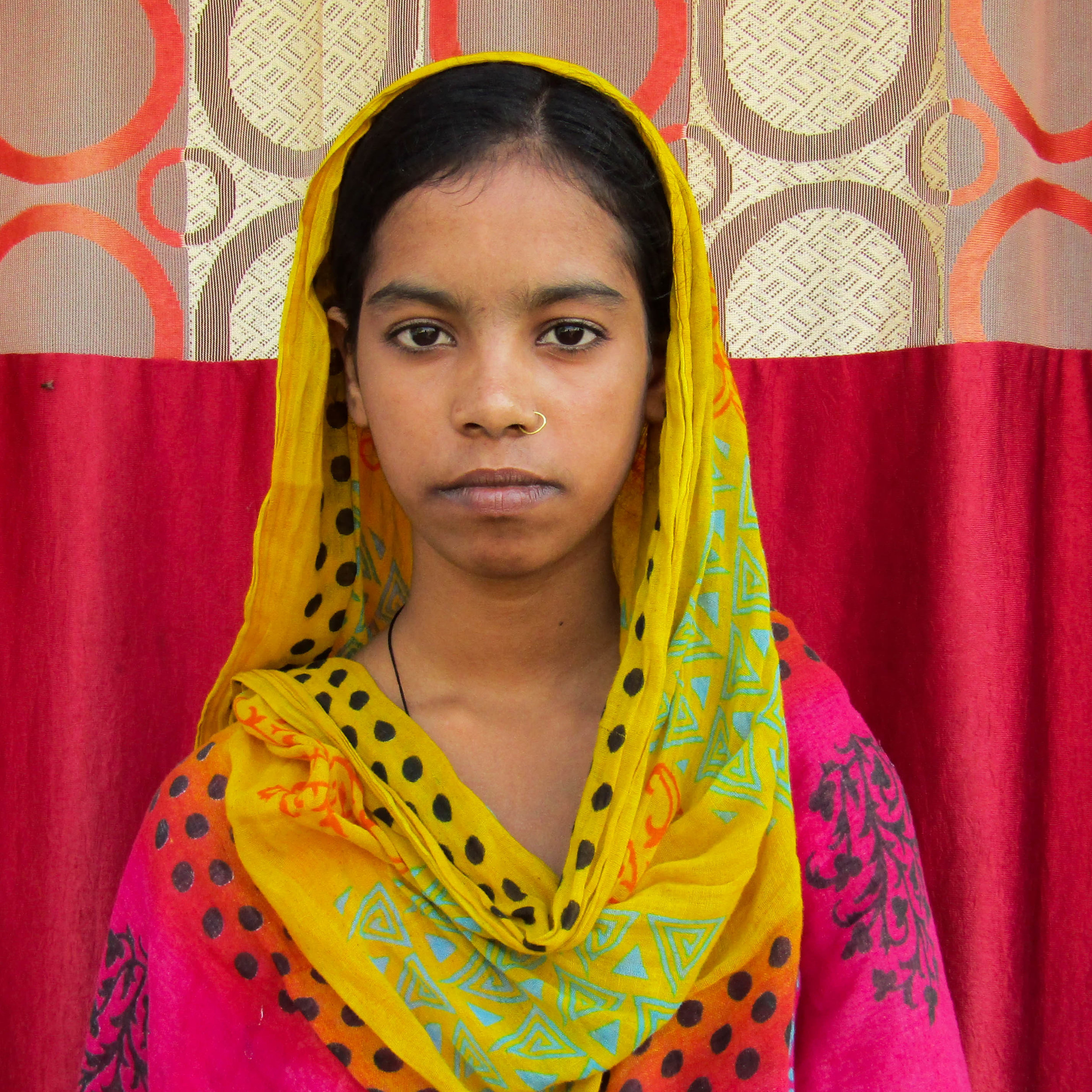 Jia - Sana is 25 years old and at risk of human trafficking. Residing in Bihar, India, she was born into the SC caste, a historically disadvantaged indigenous people group. Married with five children ages 3 to 7, her family's average household income is about $3.00 a day. Sana is illiterate with major barriers to finding work.