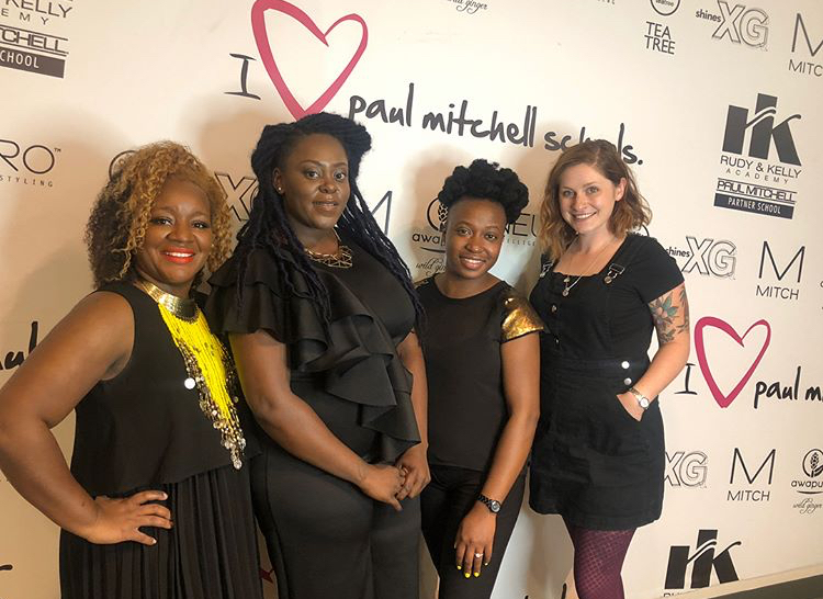 Fawnee + the Salon Noa Team with Chelsea