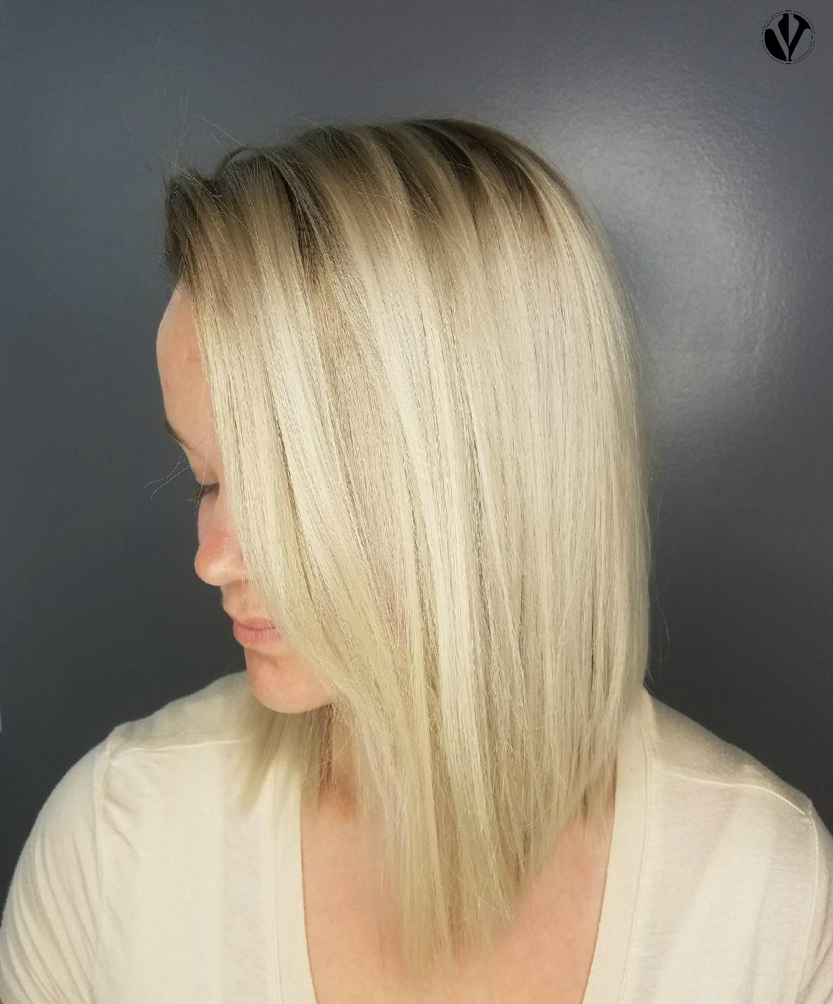 After the Toner - A toner helped to create a more even blonde while removing the brassy tones from the root