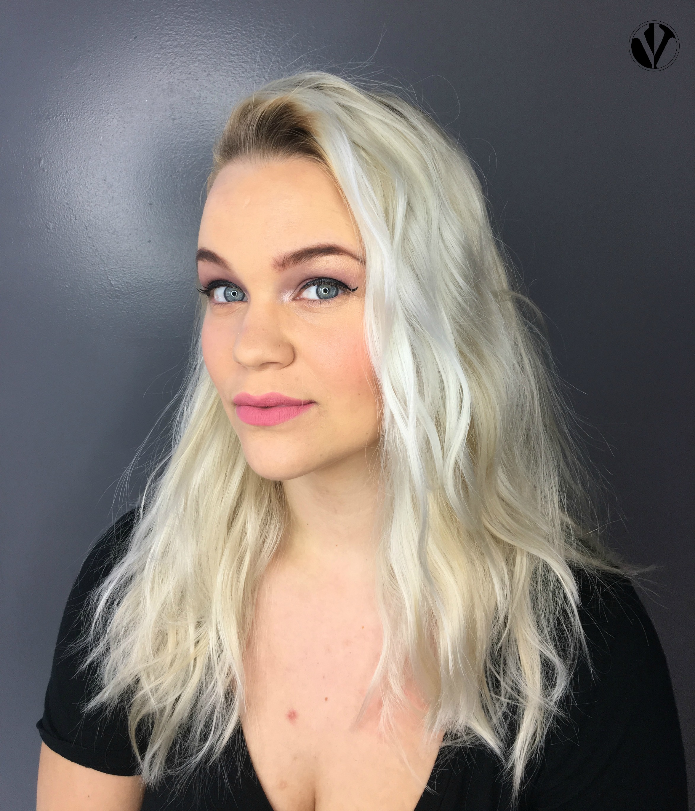 Before The Toner - You'll notice the mixed shades of blonde, especially near the root, resulting from lightening previously-colored hair.