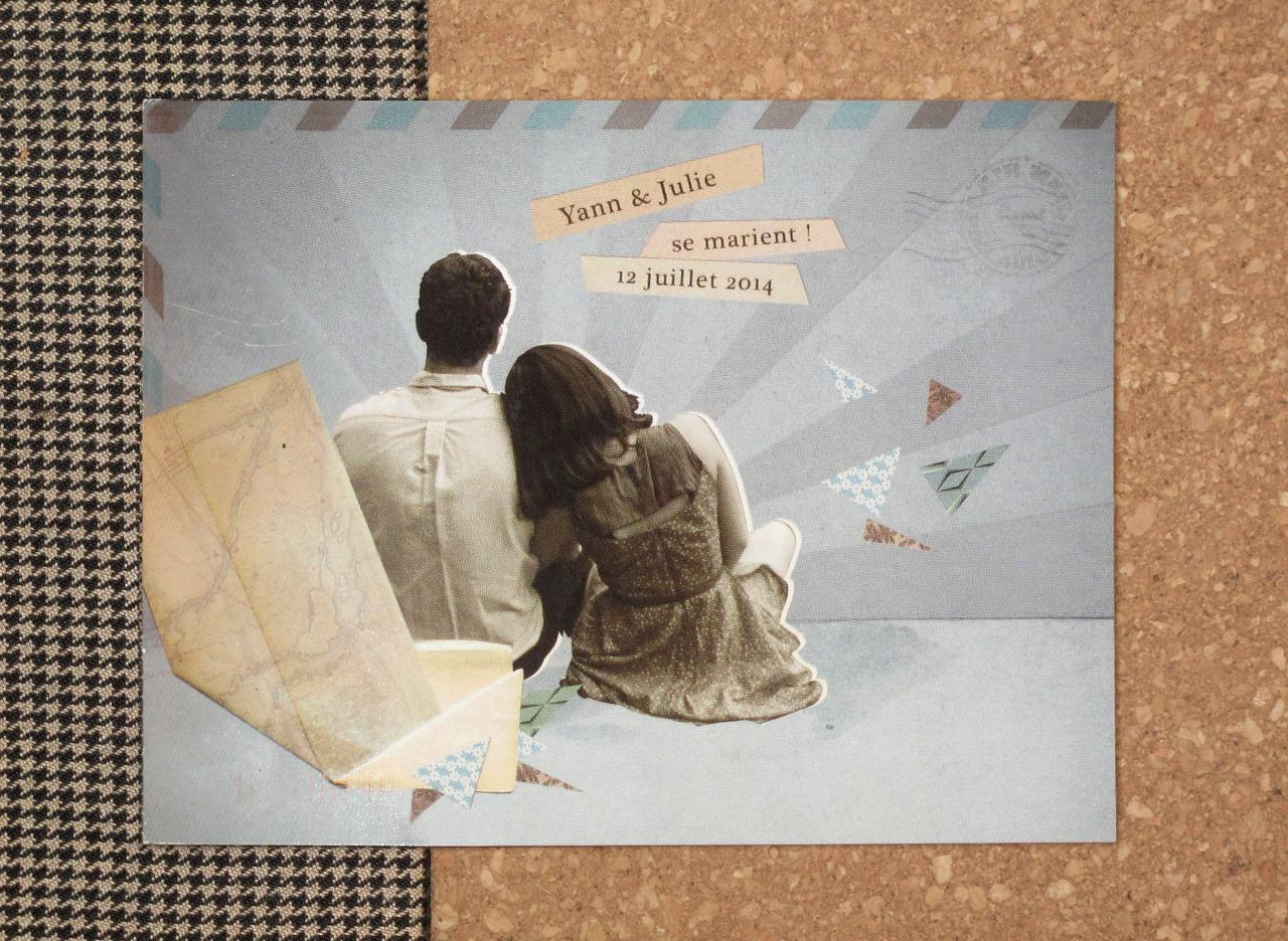 - photomontage pour le faire-part de mariage de Yann & Julie! -