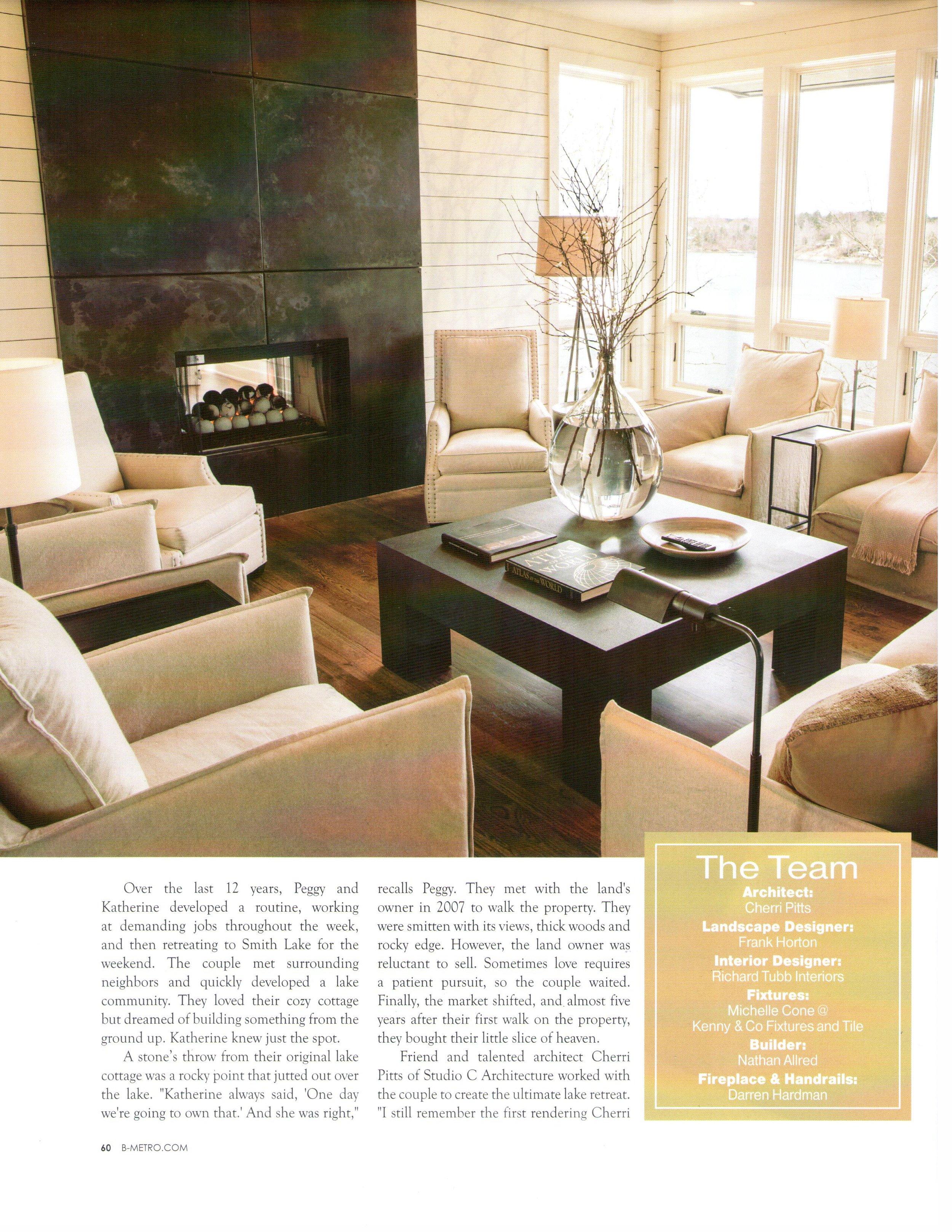 B-metro magazine 2013 lake living page 3 architecture exterior and interior design Alabama