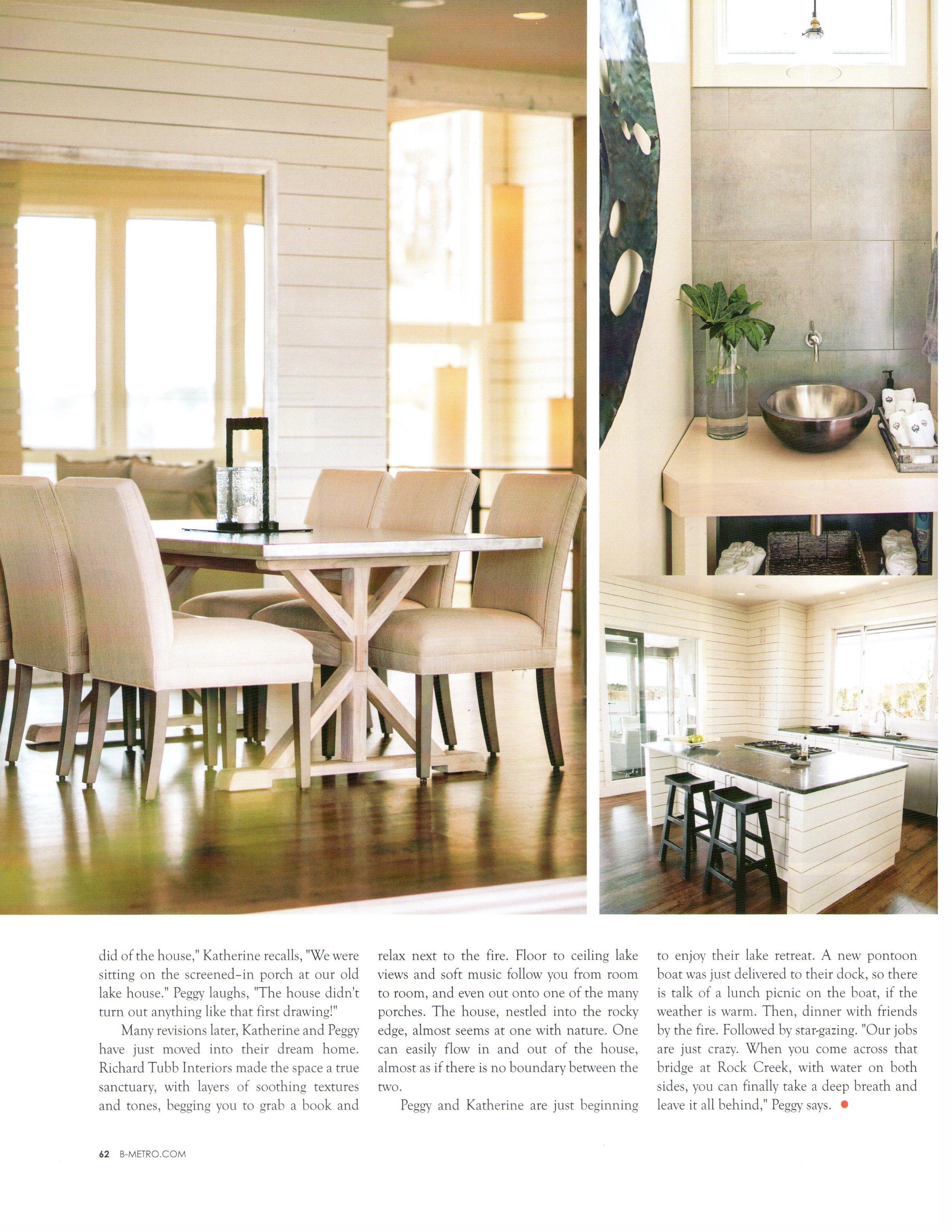 B-metro magazine 2013 page 5 lake living architecture exteriors and interior design Alabama