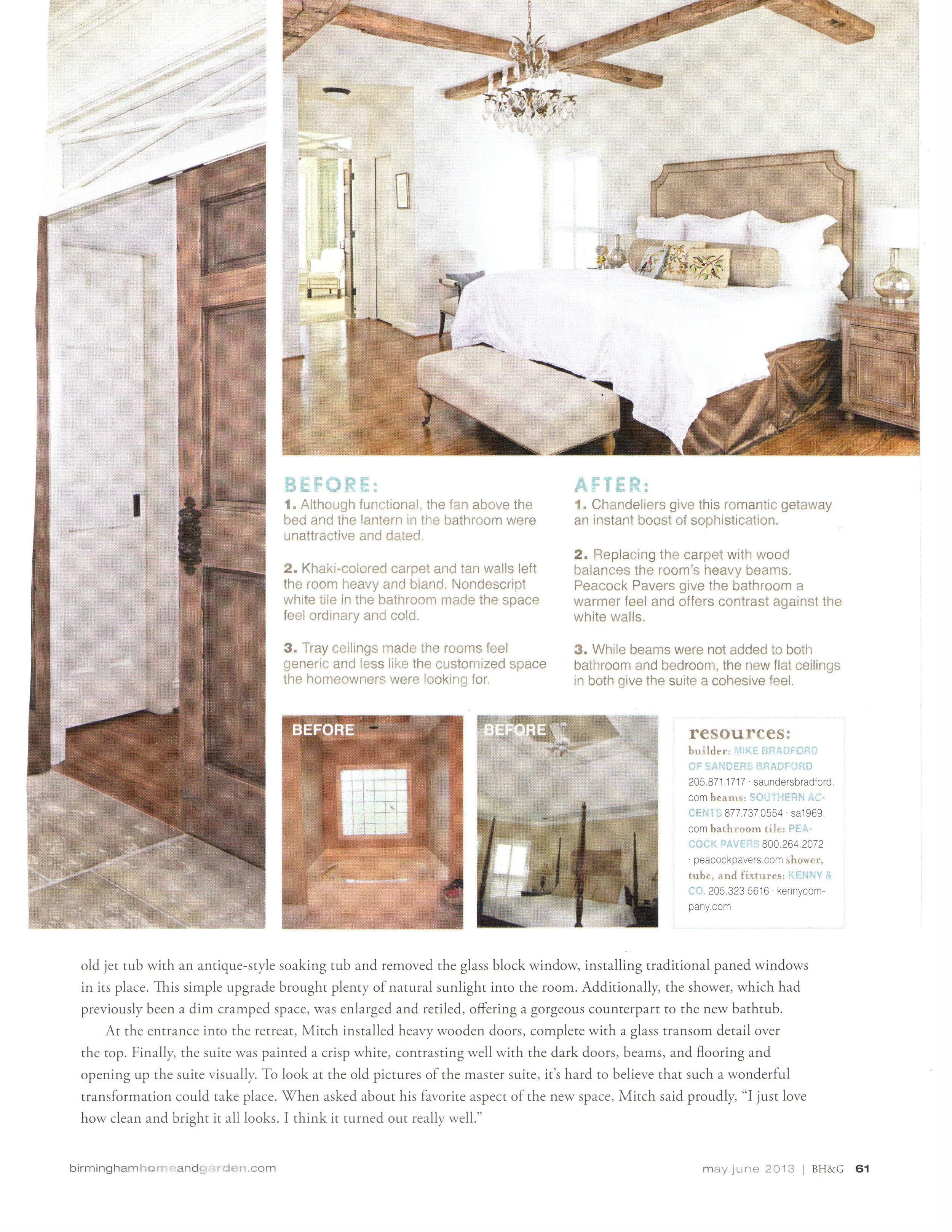 B'Ham Home & Garden Suite Upgrade magazine page 6 architecture exterior and interior design Alabama
