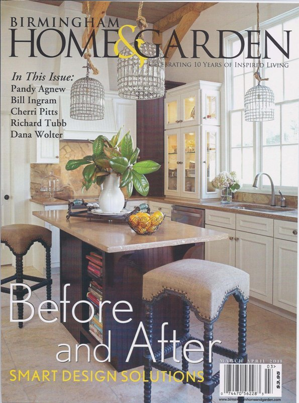 Birmingham Home & Garden 2011 Nick of Time magazine cover architecture exterior and interior design Alabama