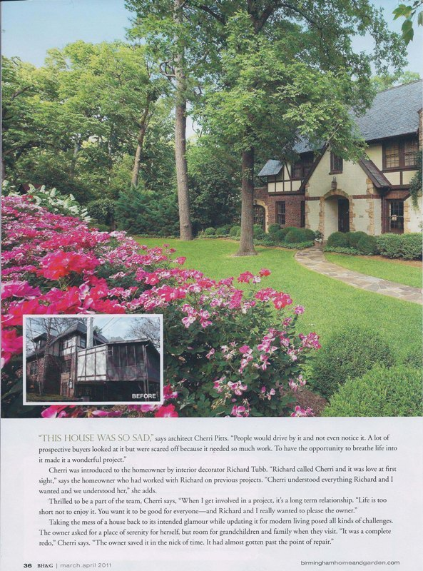 Birmingham Home & garden magazine 2011 Nick of time page 3 architecture exterior and interior design Alabama