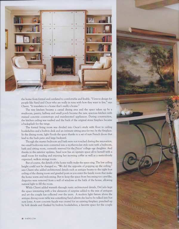 B-Metro Magazine 2010 Keep it casual page 3 architecture exterior and interior design magazine feature Alabama